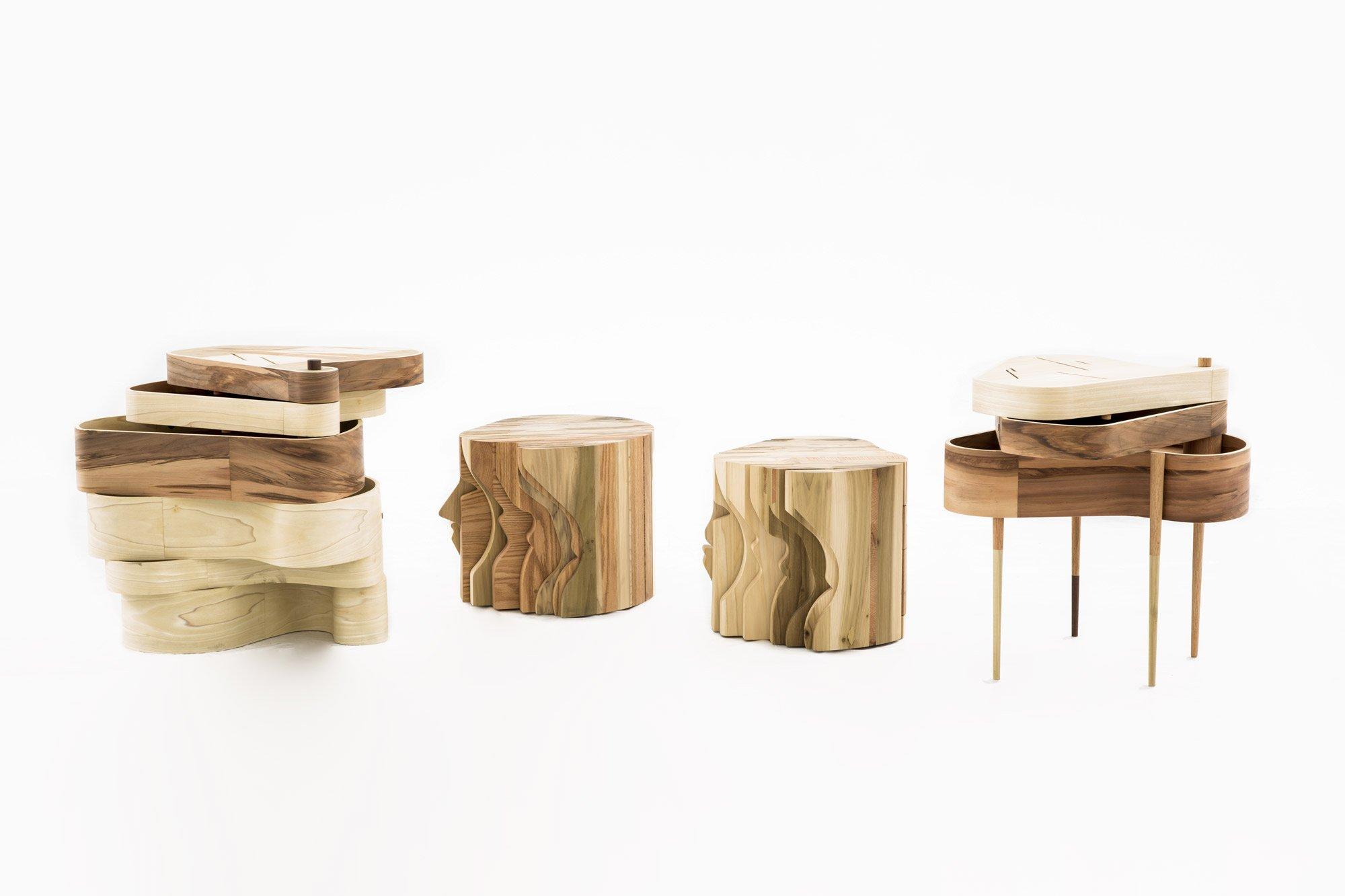 The full set of 'A Family of Tables'  © Uxío Da Vila