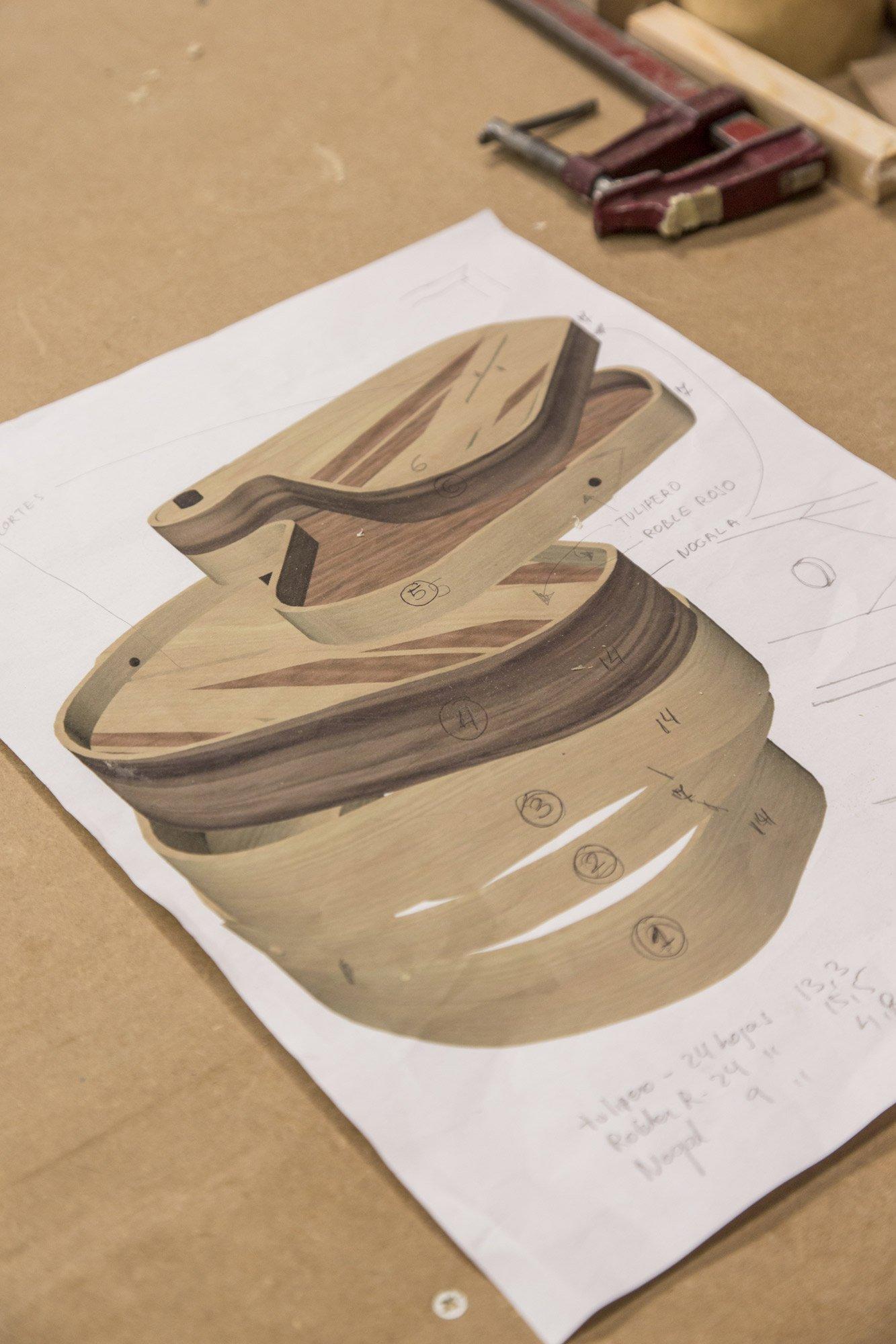 Image of 3D design for 'Ribbon' tables © Uxío Da Vila