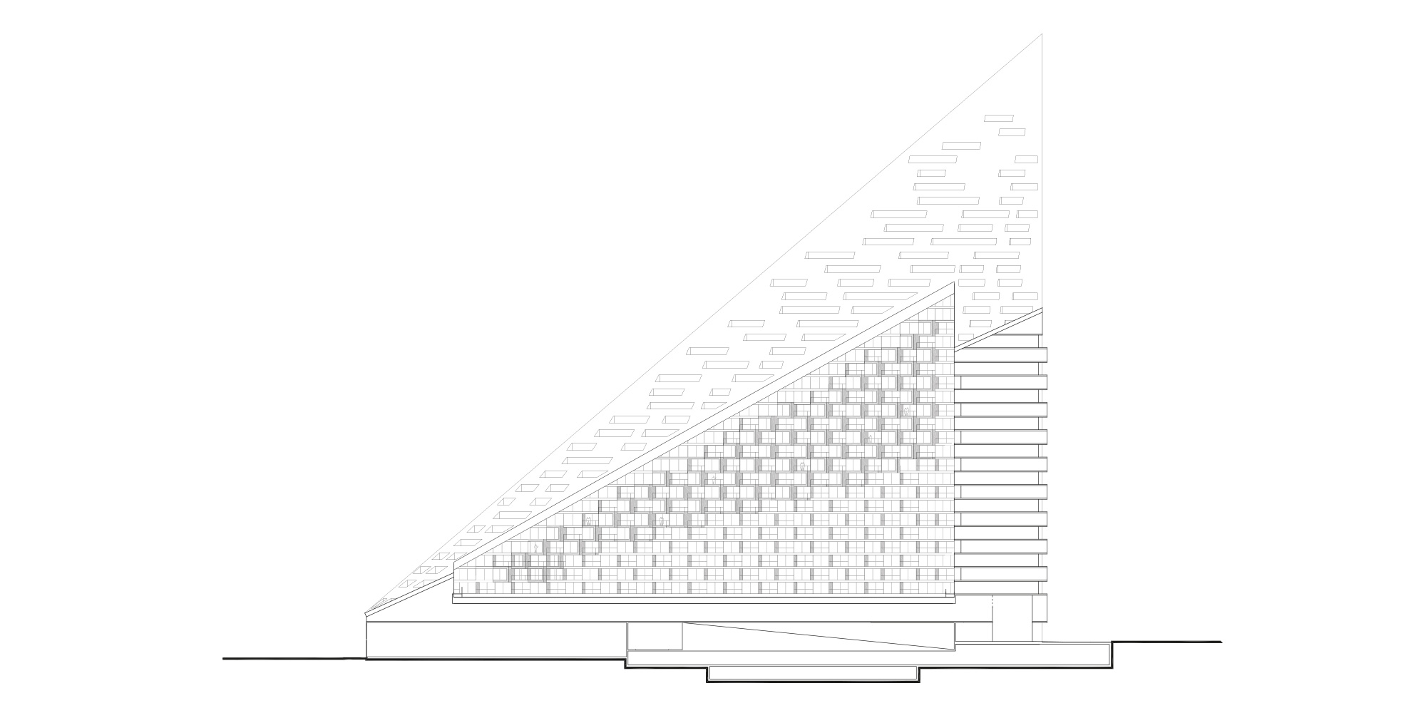 SEZIONE LONGITUDINALE © Bjarke Ingels Group