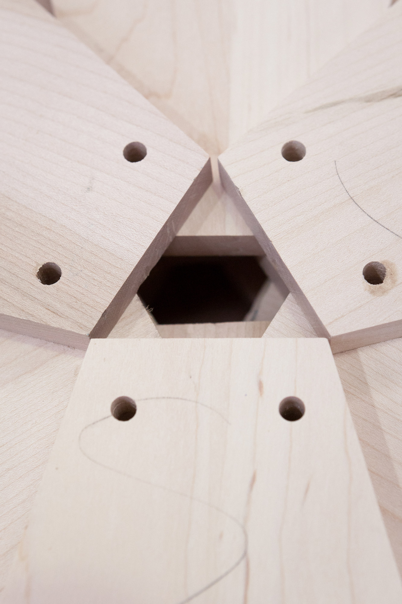 Detail of tulipwood wheel components for the pull out blinds of 'A Window to the Arzak Universe' © Uxío Da Vila