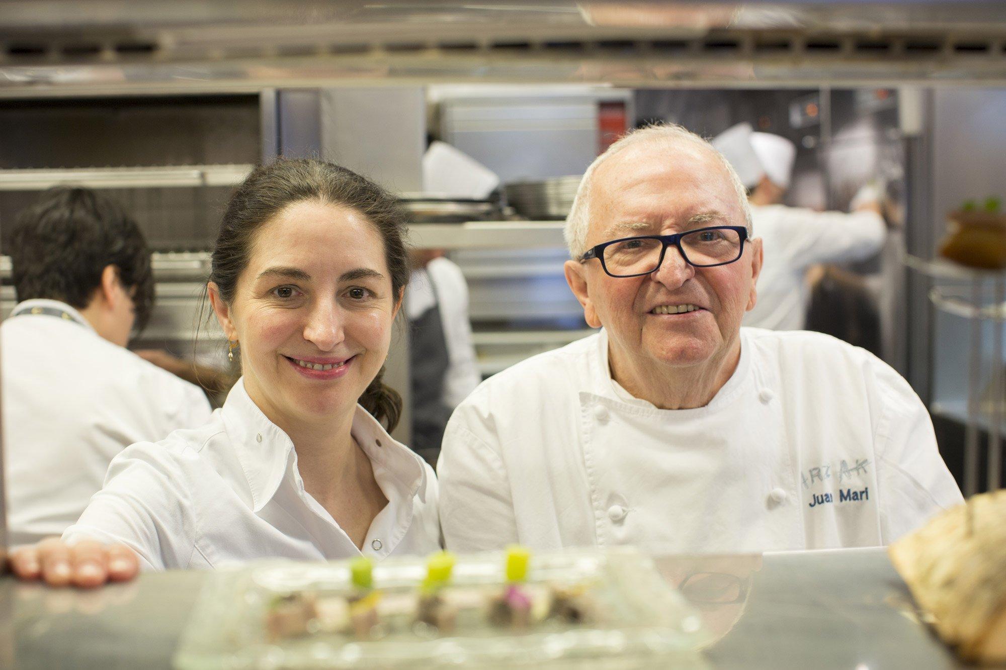 Juan Mari and Elena Arzak in the kitchen at their San Sebastian restaurant © Uxío Da Vila