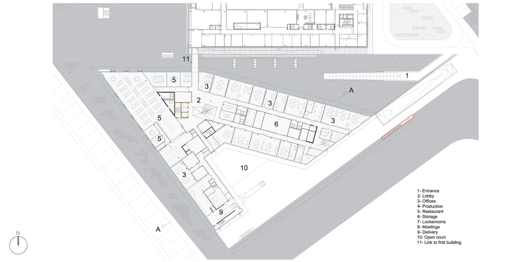 Pianta Piano Terra © Bernard Tschumi Architects