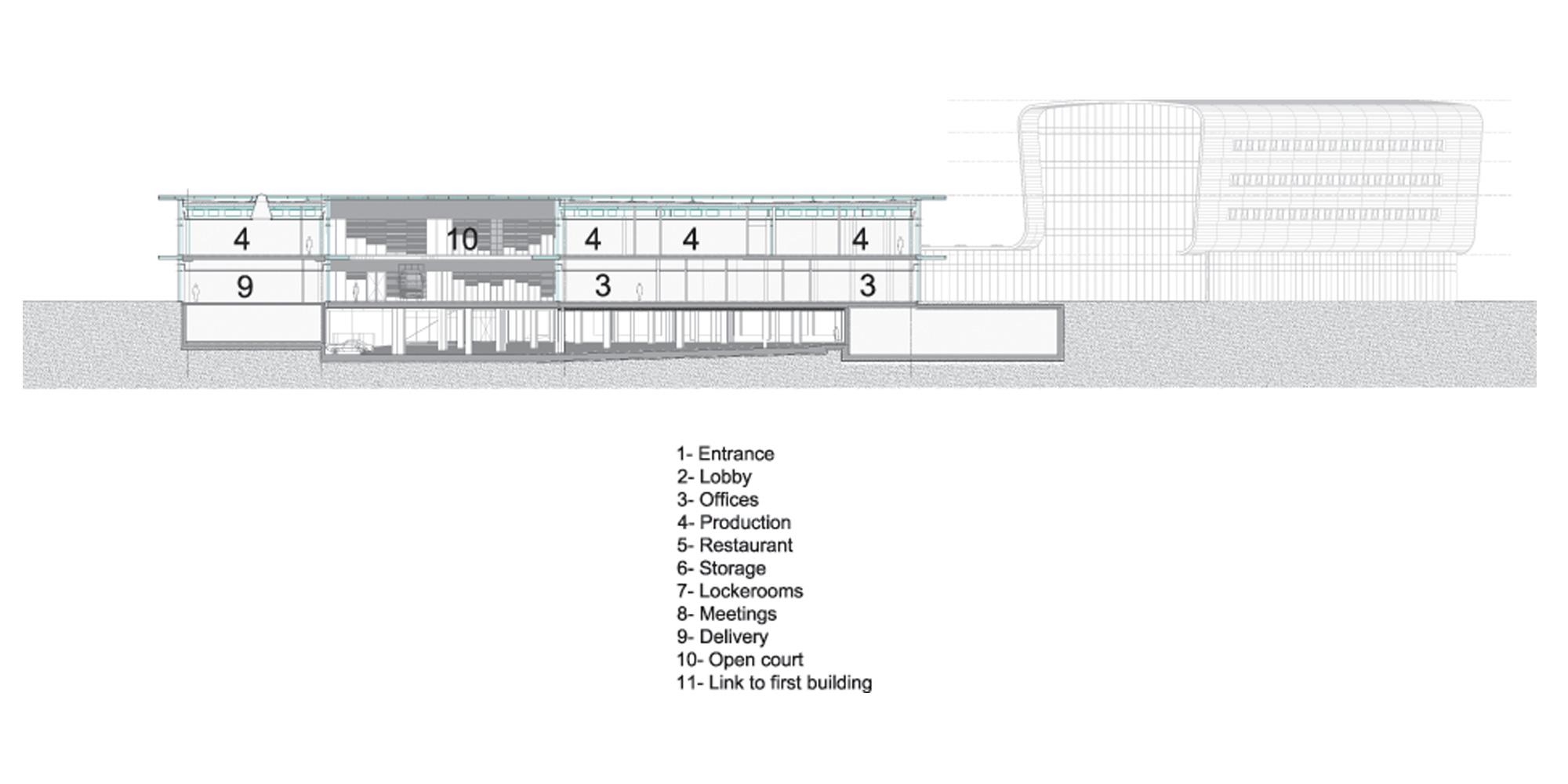Sezione AA © Bernard Tschumi Architects