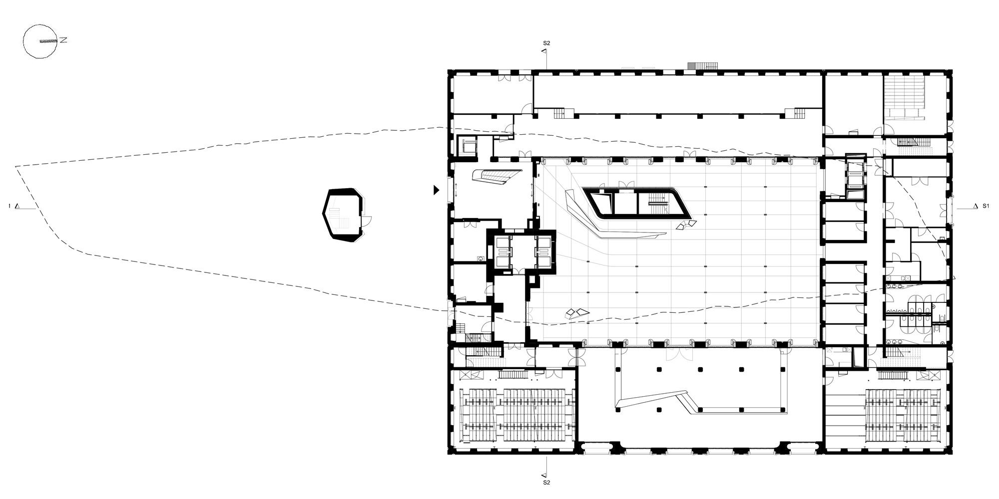 Pianta piano terra © Zaha Hadid Architects
