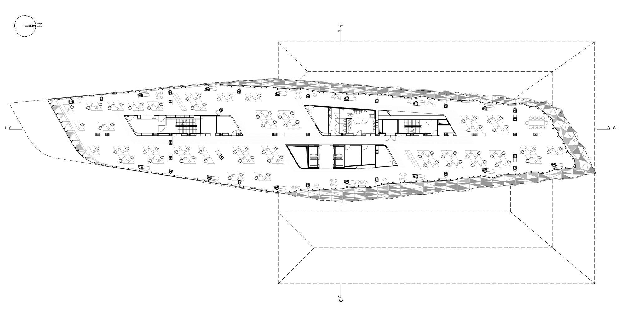 Pianta livello 8 © Zaha Hadid Architects