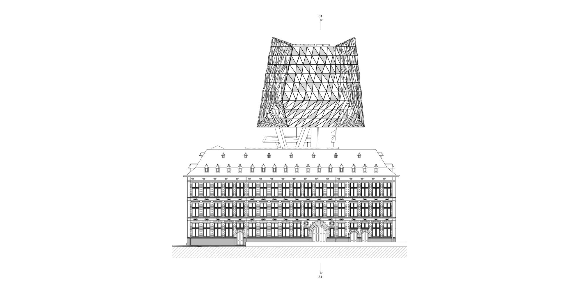 Prospetto Nord © Zaha Hadid Architects