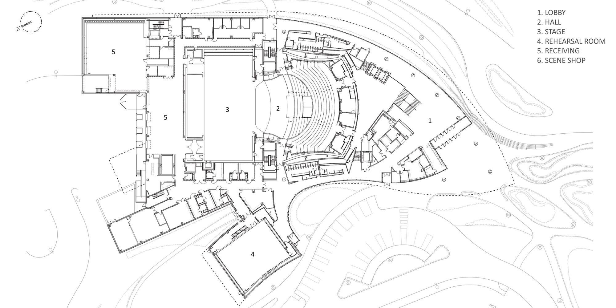 Level 1 Plan © Pelli Clarke Pelli Architects