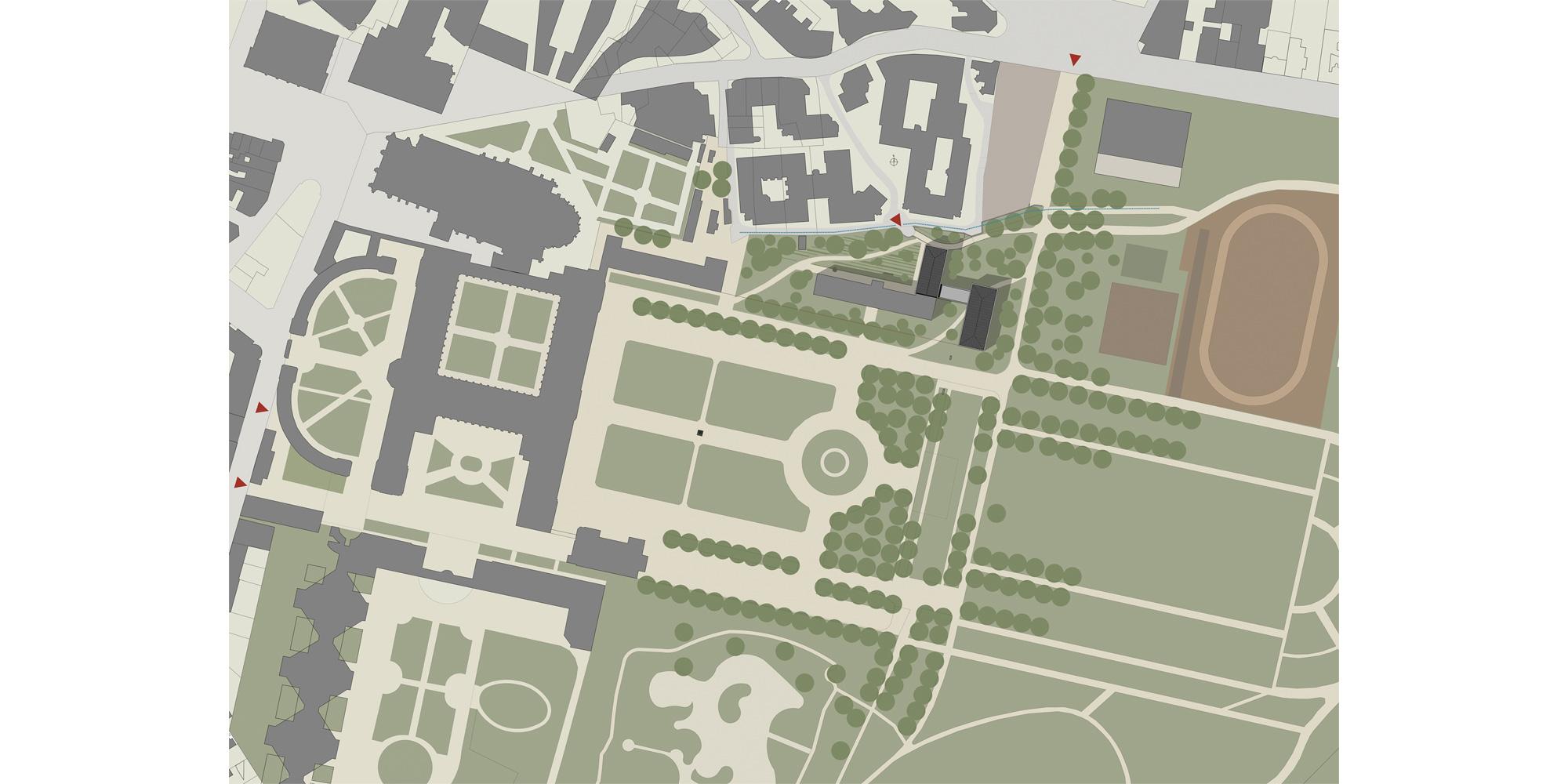 Planimetria © Belus & Hénocq Architectes