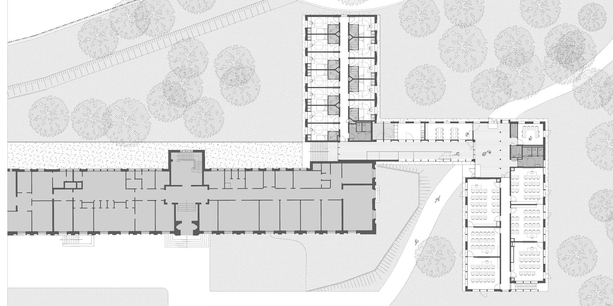 Pianta Piano Terra © Belus & Hénocq Architectes