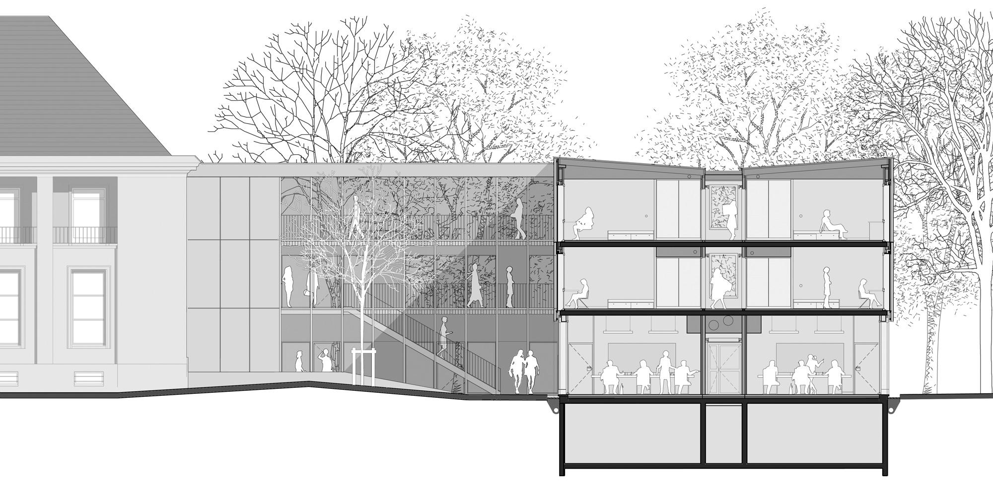 Sezione AA © Belus & Hénocq Architectes
