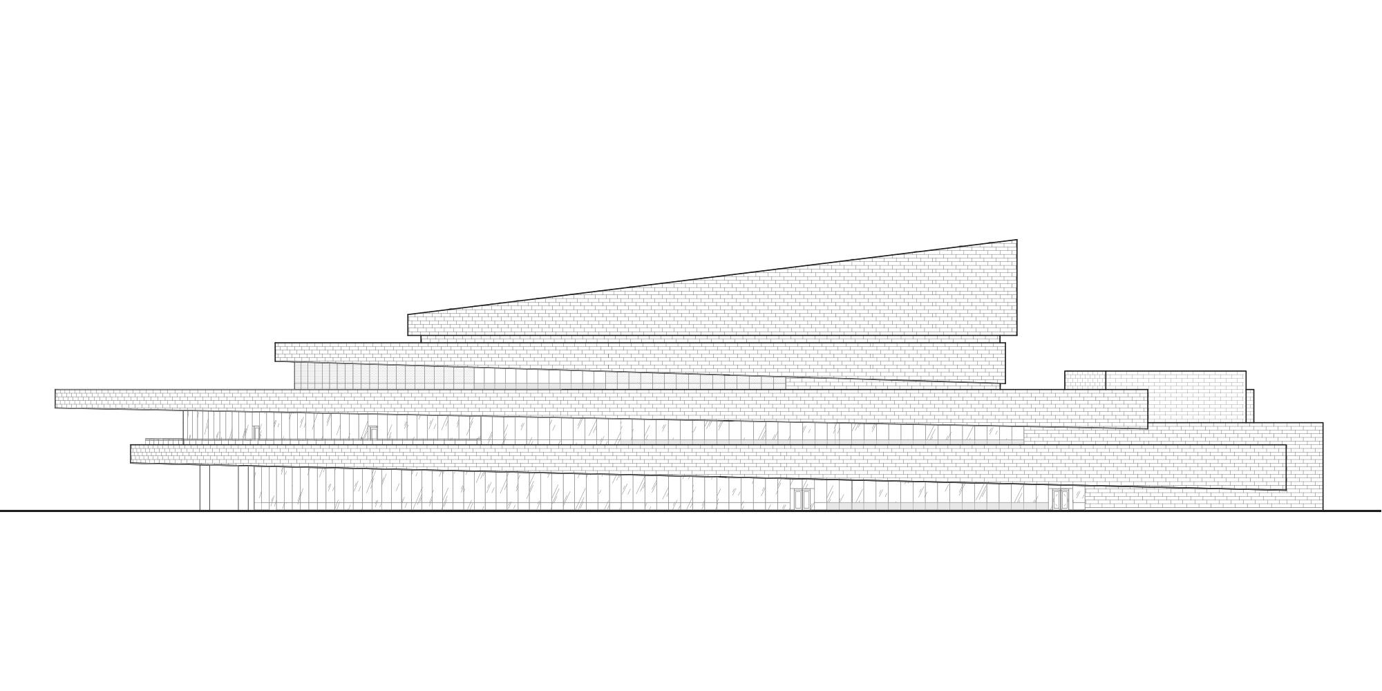 East Elevation © Pelli Clarke Pelli Architects
