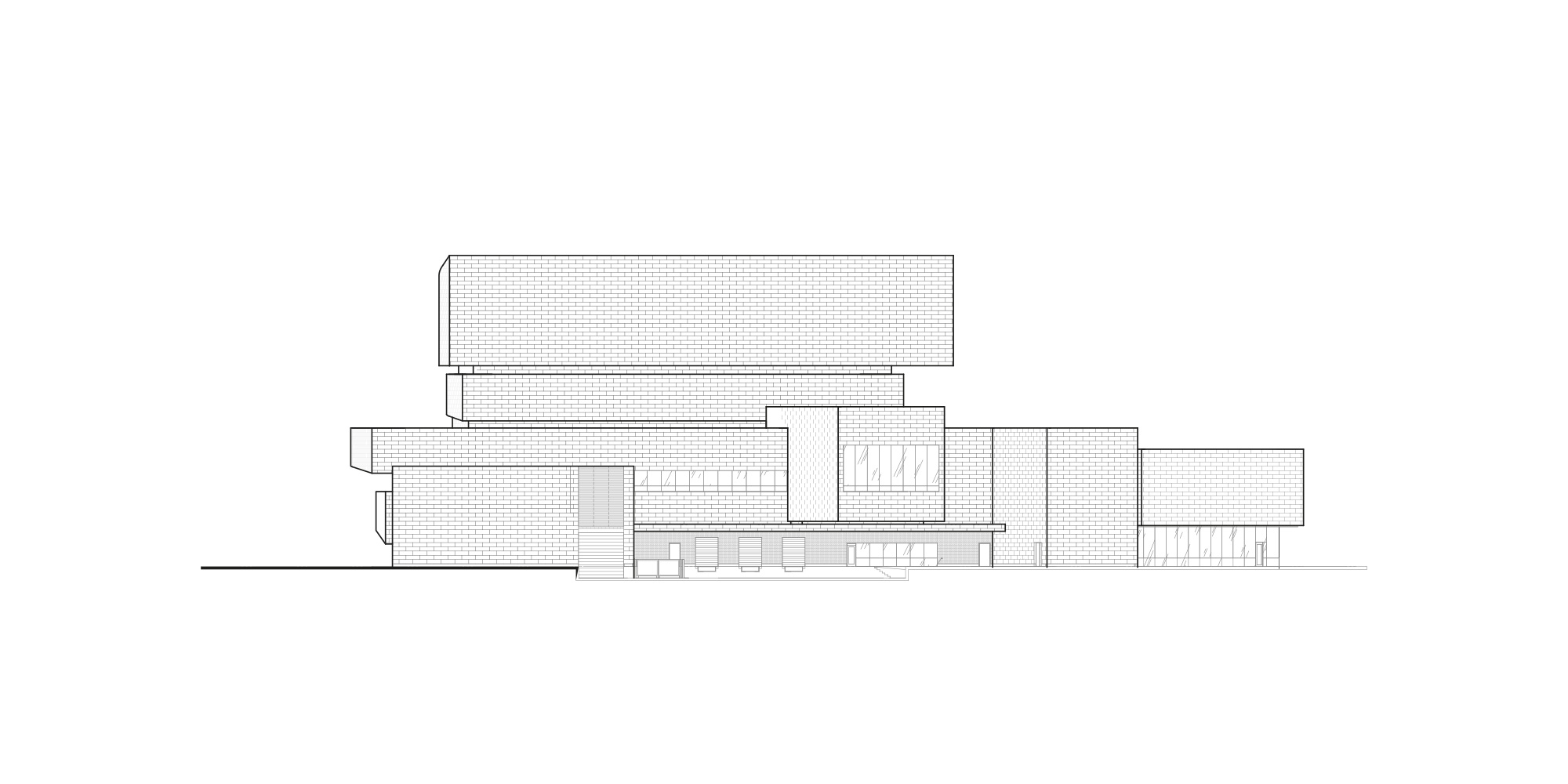 North elevation © Pelli Clarke Pelli Architects