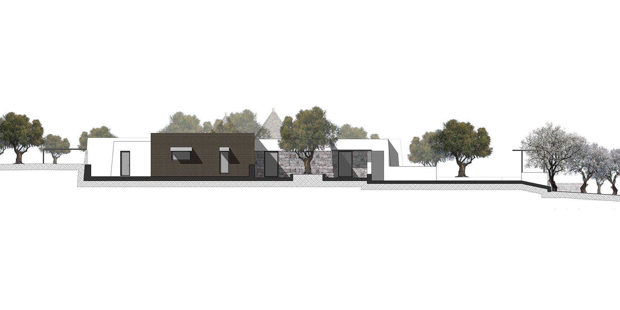 Prospetto sud-est © Luca Zanaroli Architetto
