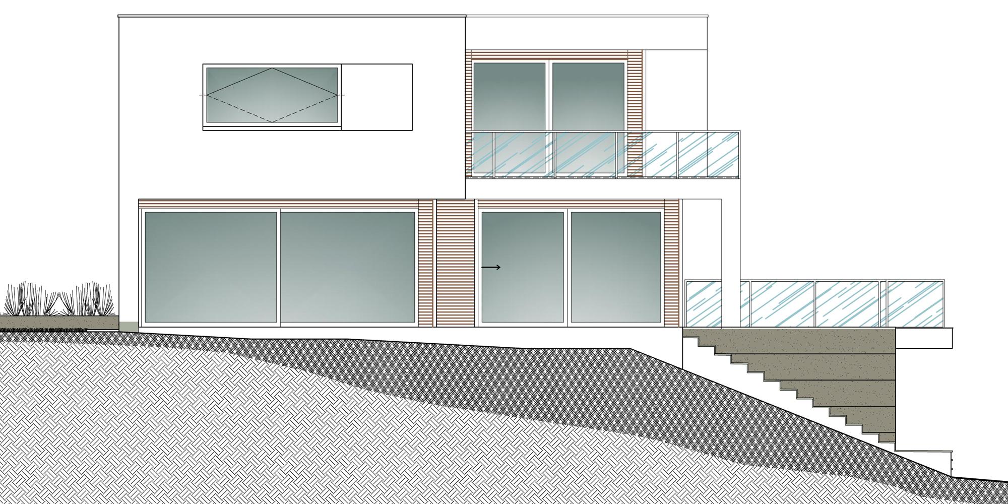 Prospetto sud-ovest © Damilanostudio Architects