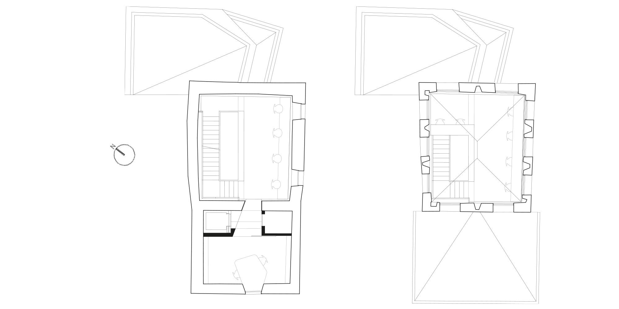 pianta piano terzo e quarto  © CN10 Architetti