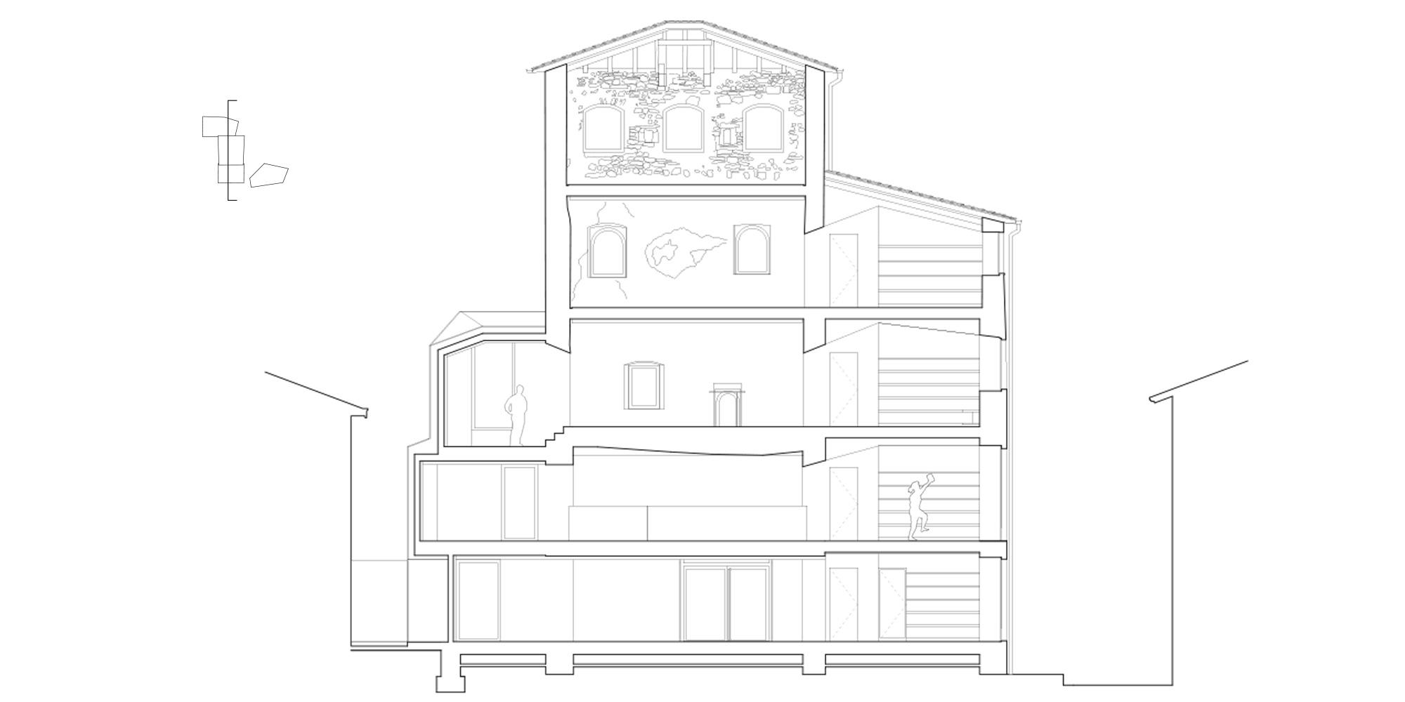 sezione aa  © CN10 Architetti