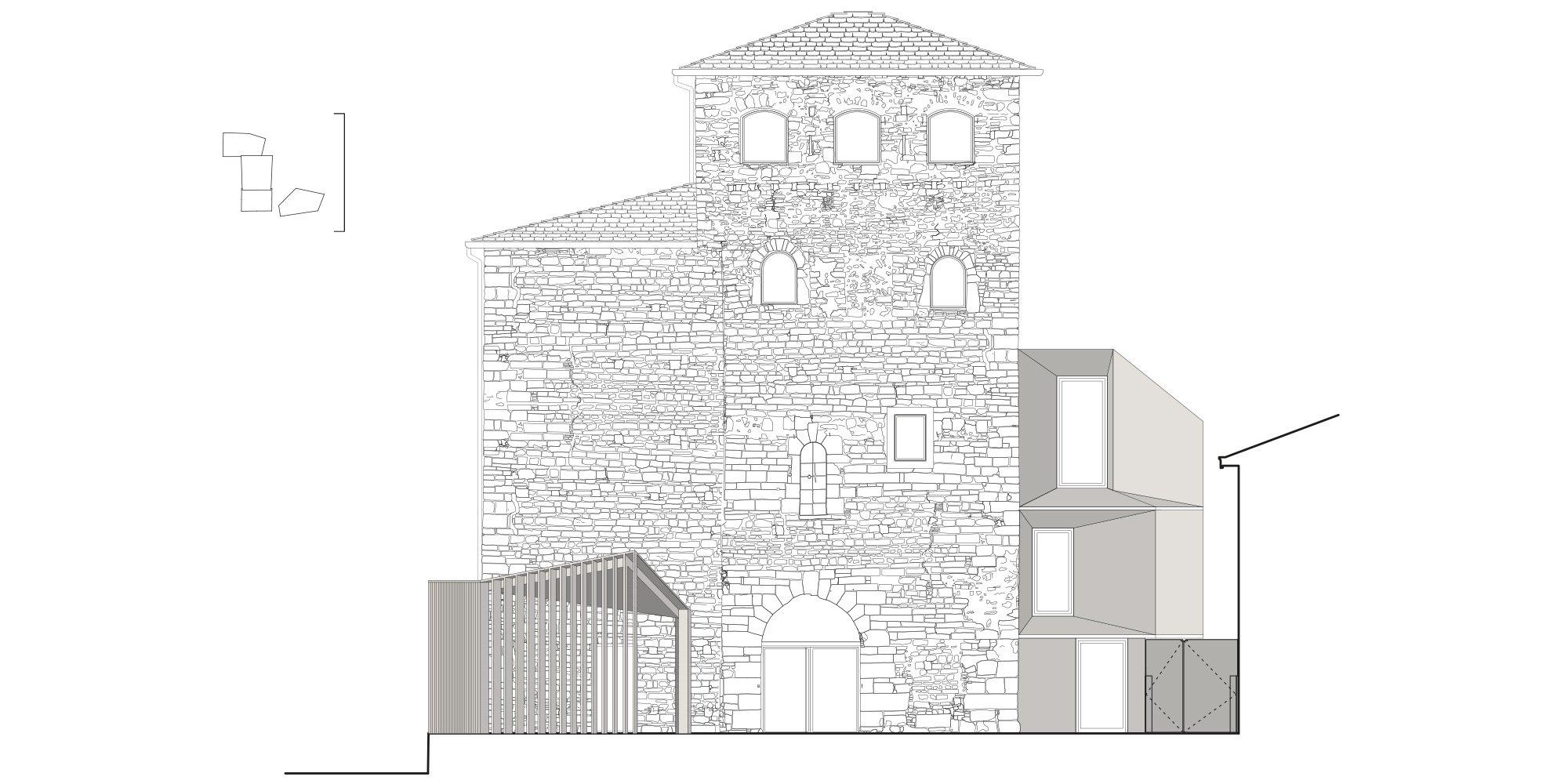 prospetto sud  © CN10 Architetti