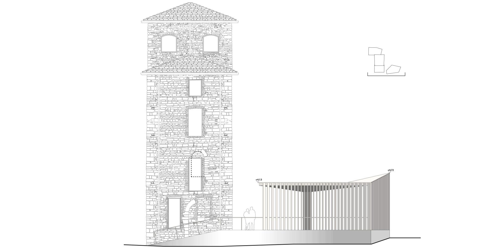 prospetto ovest  © CN10 Architetti