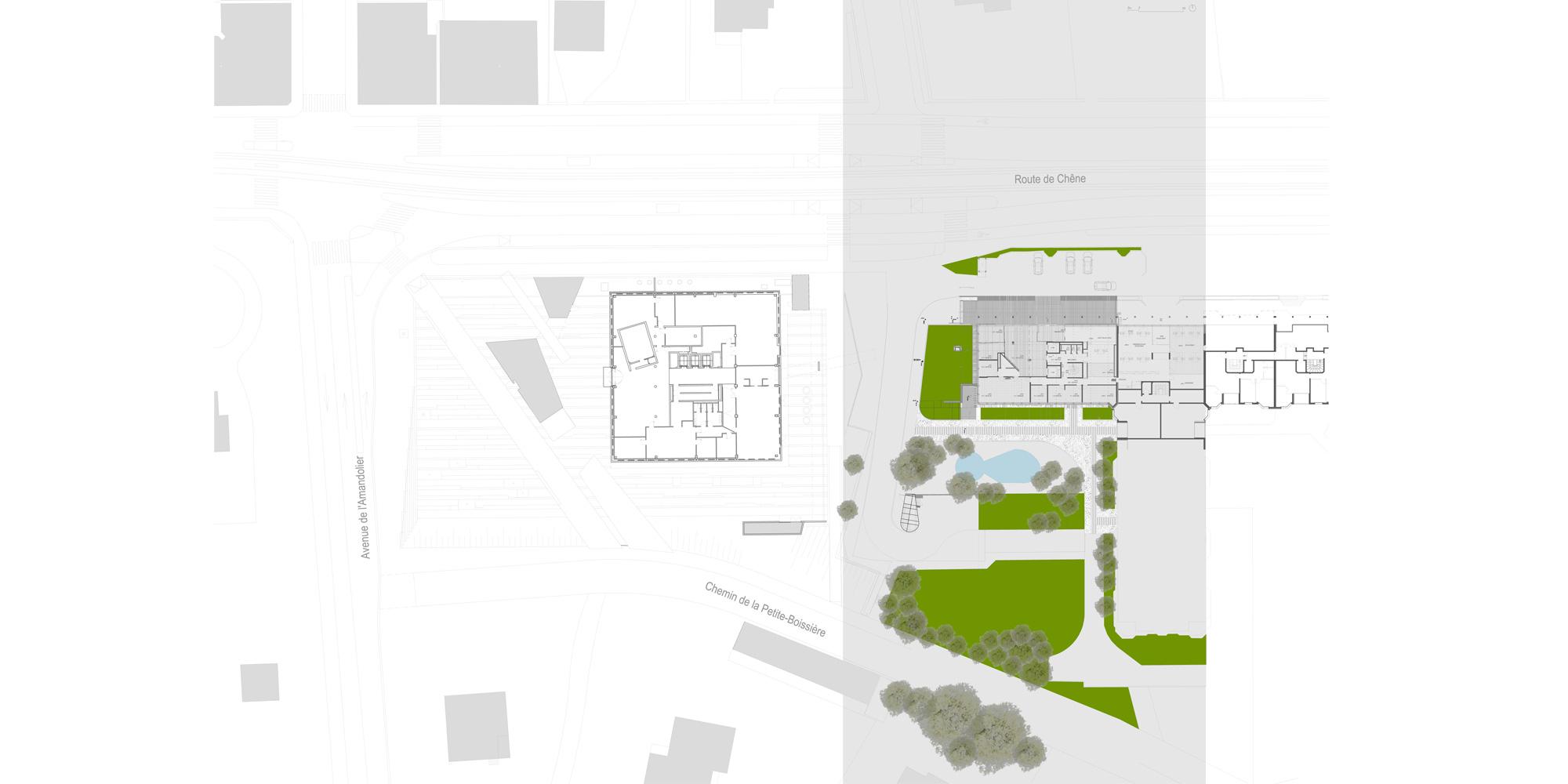 Site Plan © Giovanni Vaccarini architects - SINCRETICA architecture