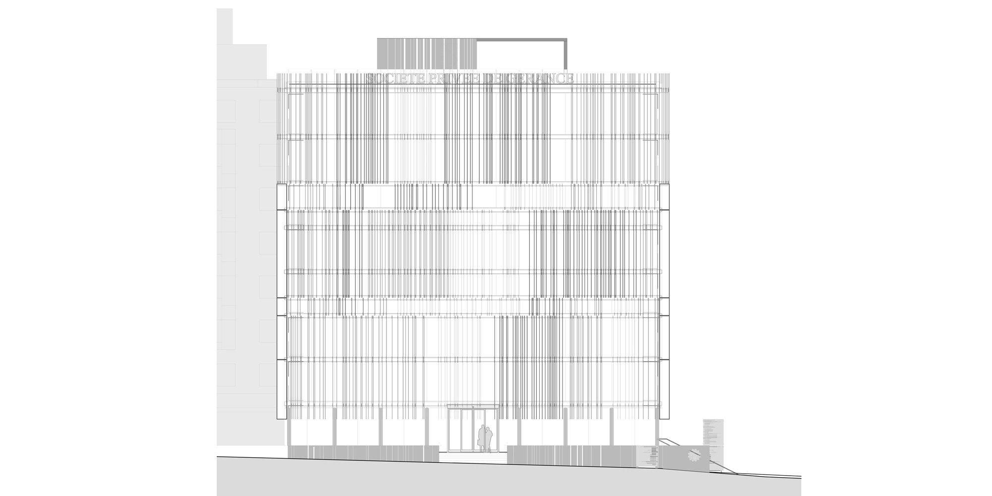 North Elevation © Giovanni Vaccarini architects - SINCRETICA architecture