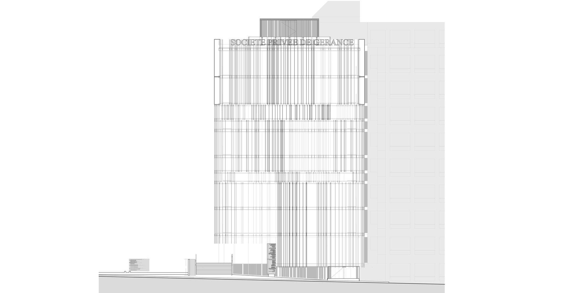 West Elevation © Giovanni Vaccarini architects - SINCRETICA architecture