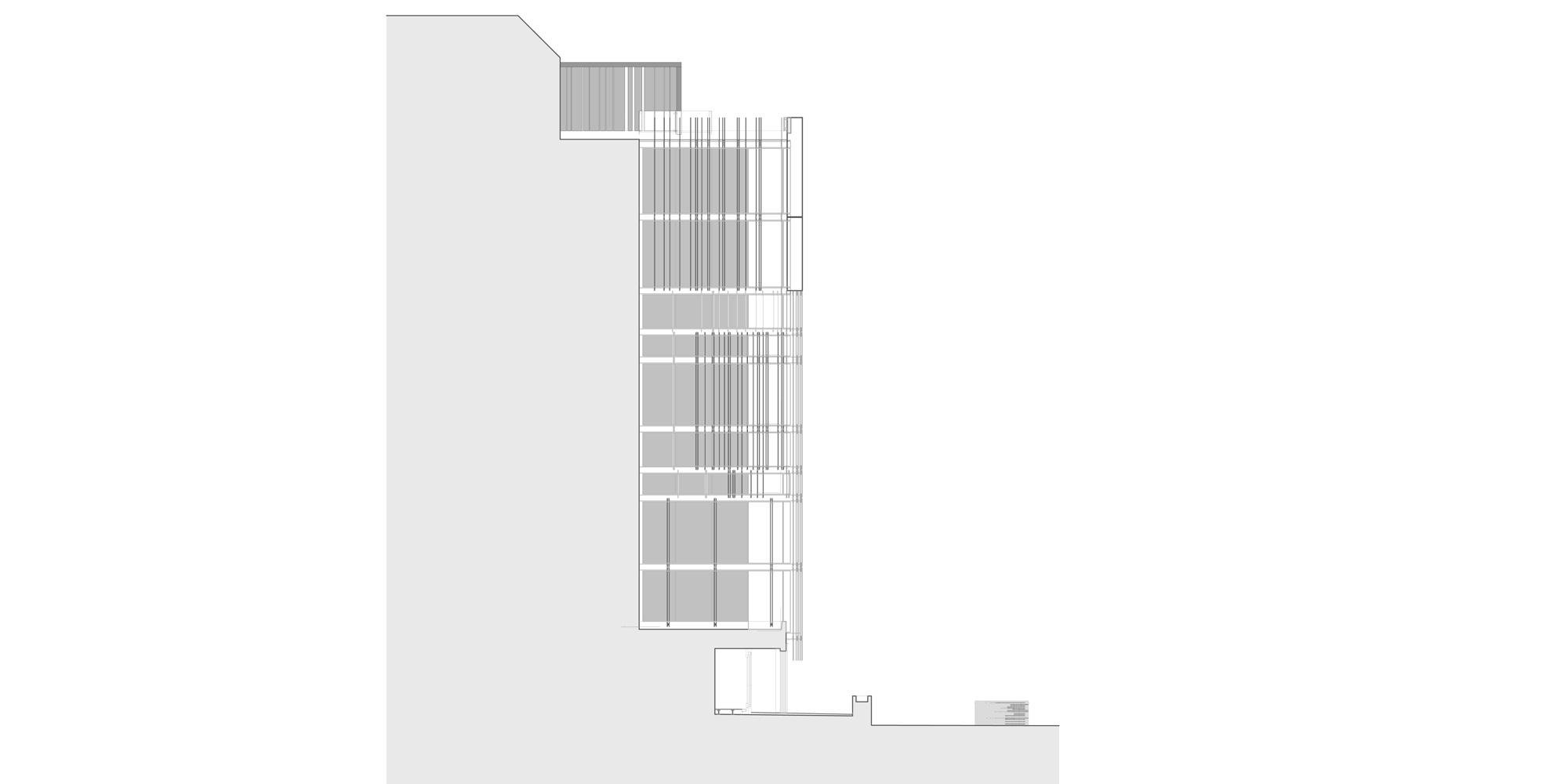 East Elevation © Giovanni Vaccarini architects - SINCRETICA architecture