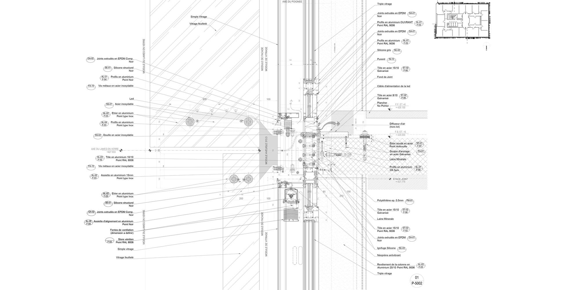 Dettaglio A © Giovanni Vaccarini architects - SINCRETICA architecture