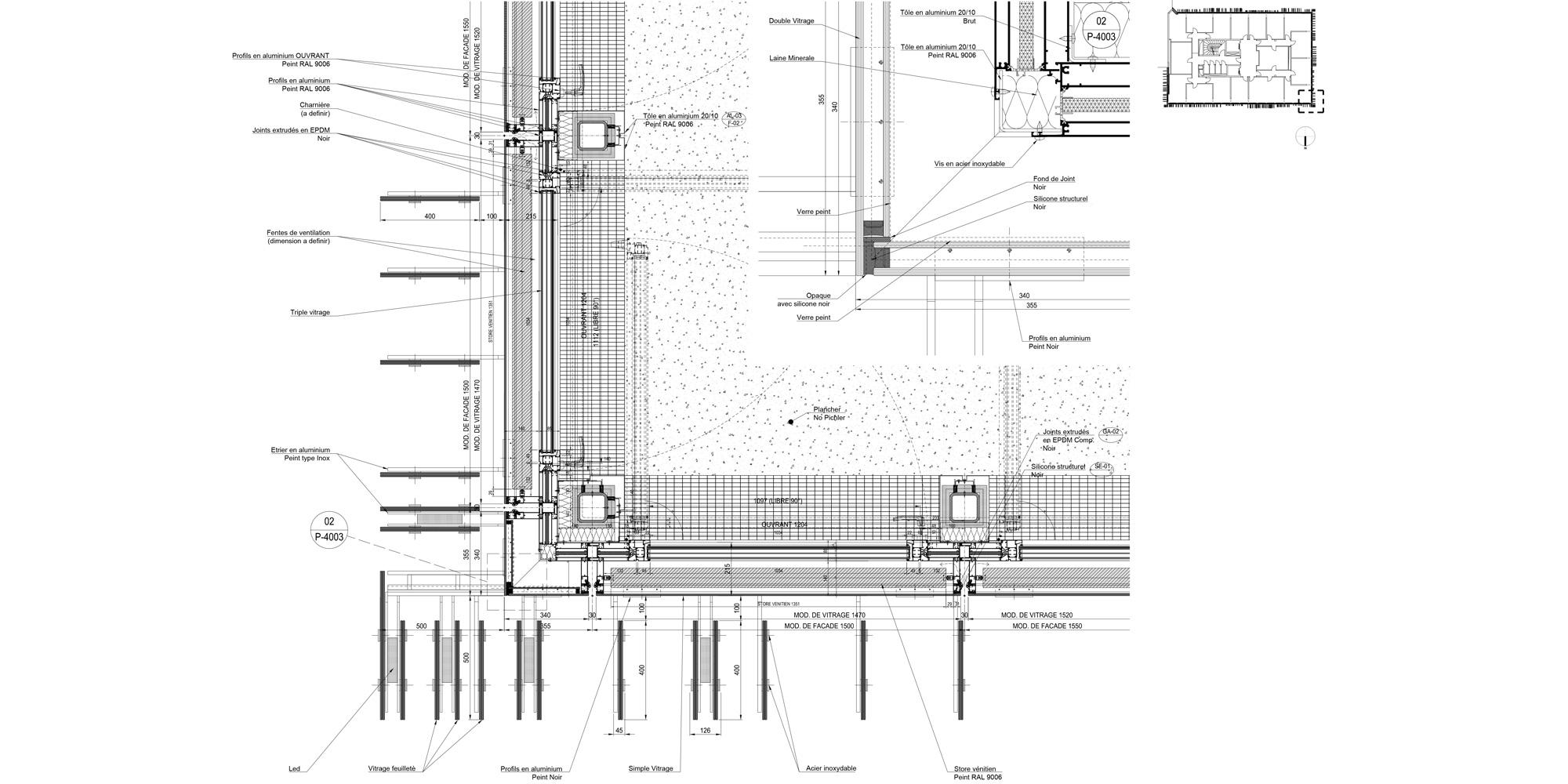 B Detail © Giovanni Vaccarini architects - SINCRETICA architecture