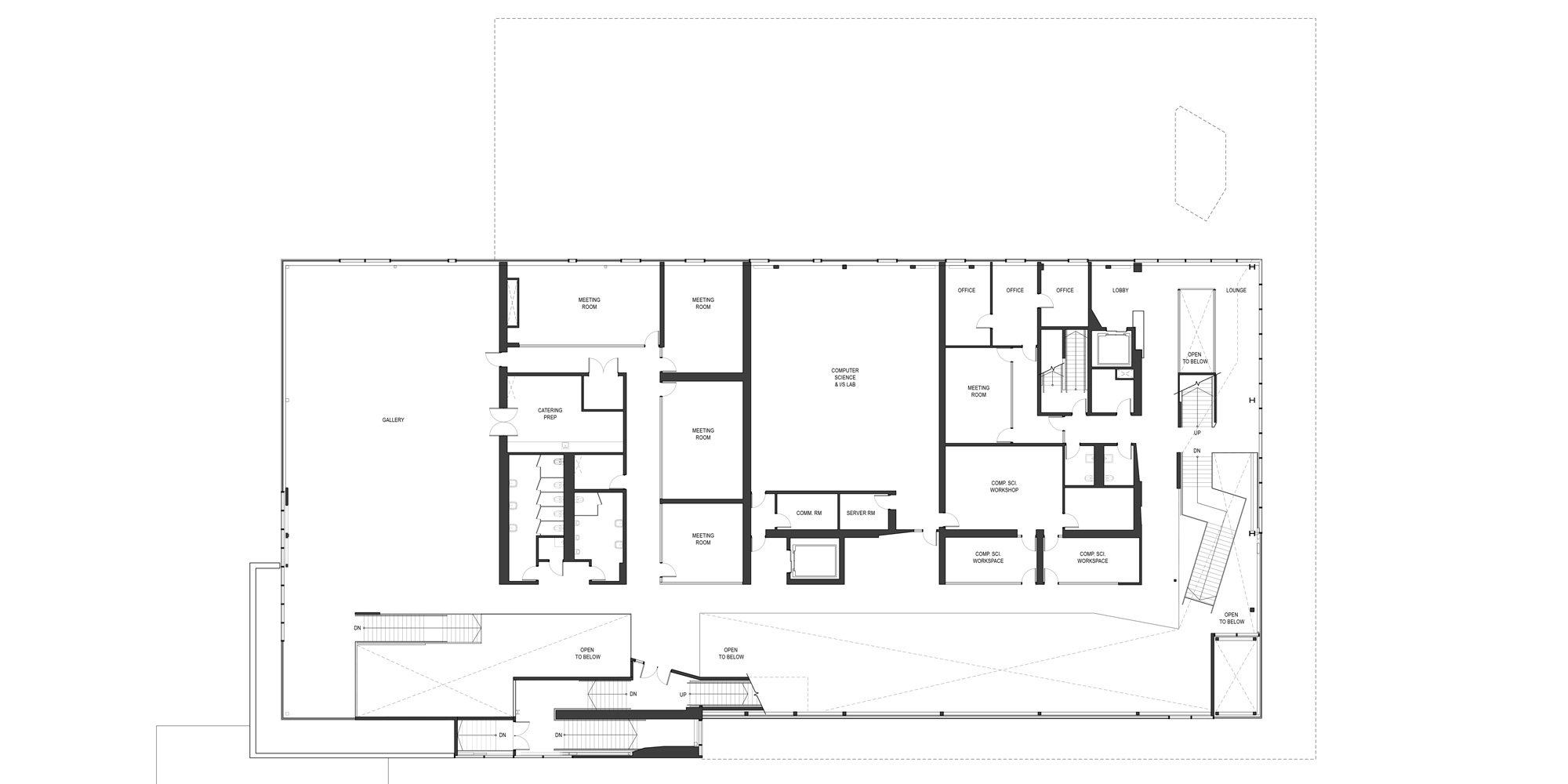 2nd level plan © Teeple Architects