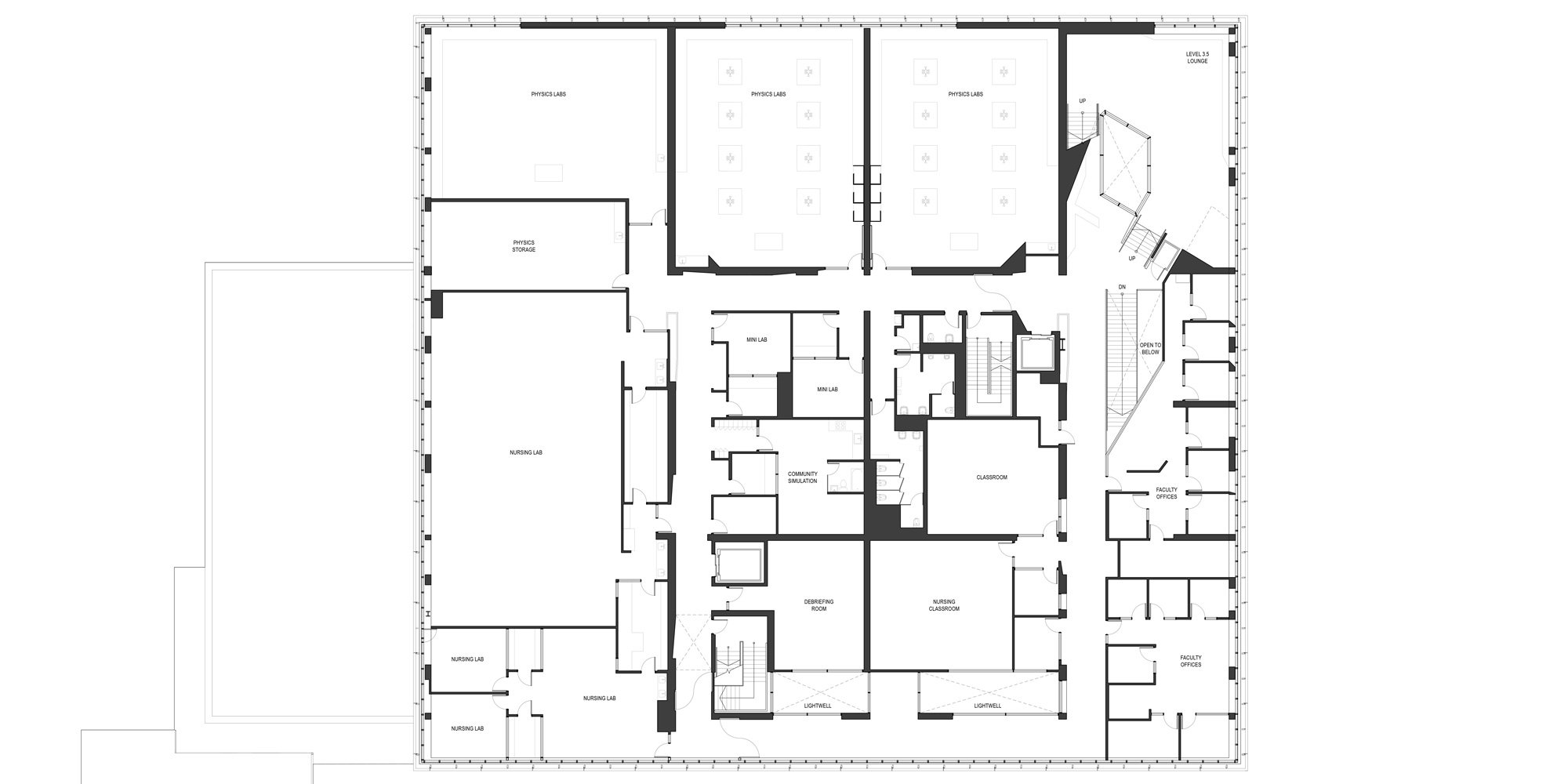 3rd level plan © Teeple Architects