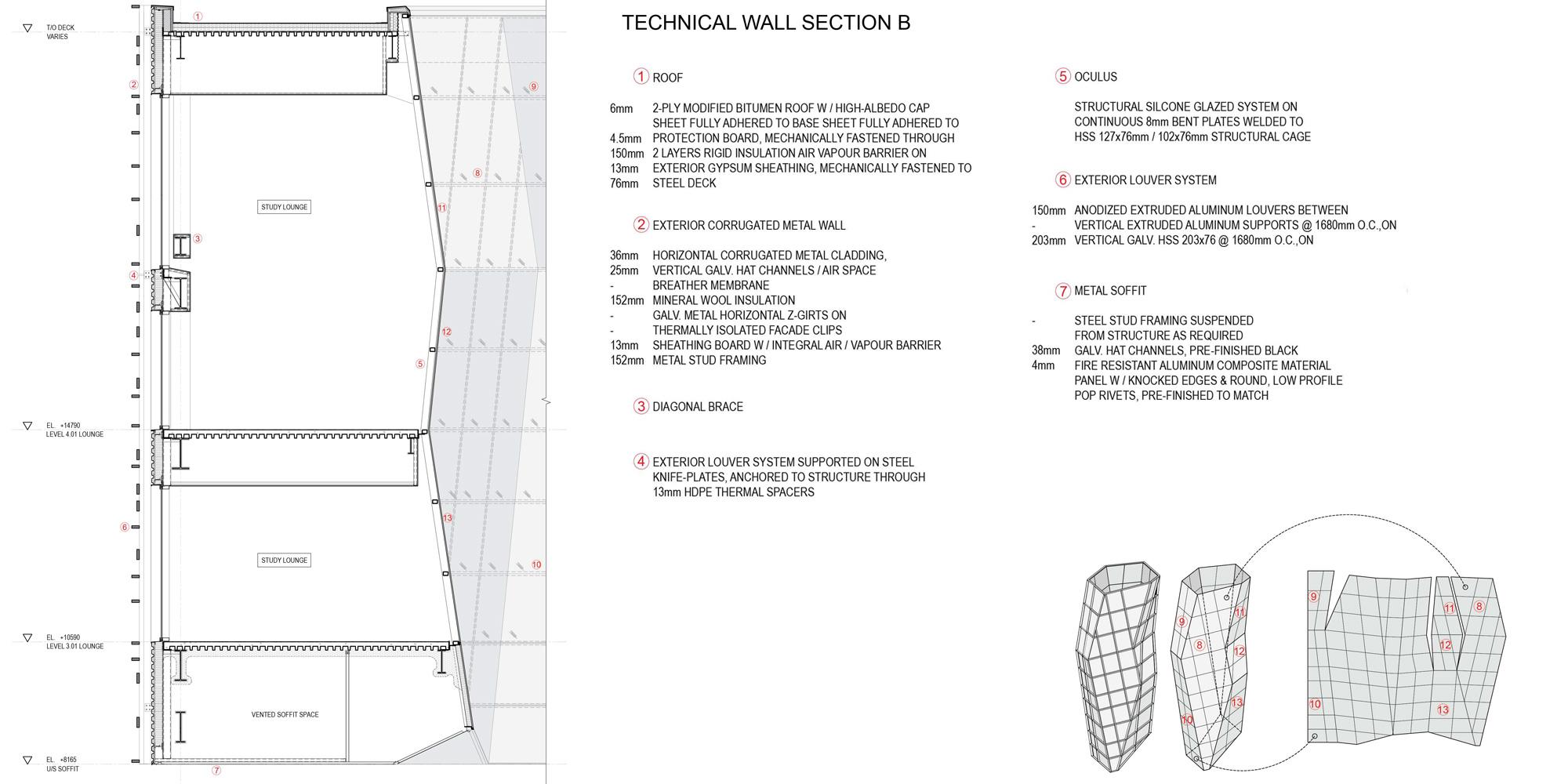 Dettaglio facciata © Teeple Architects