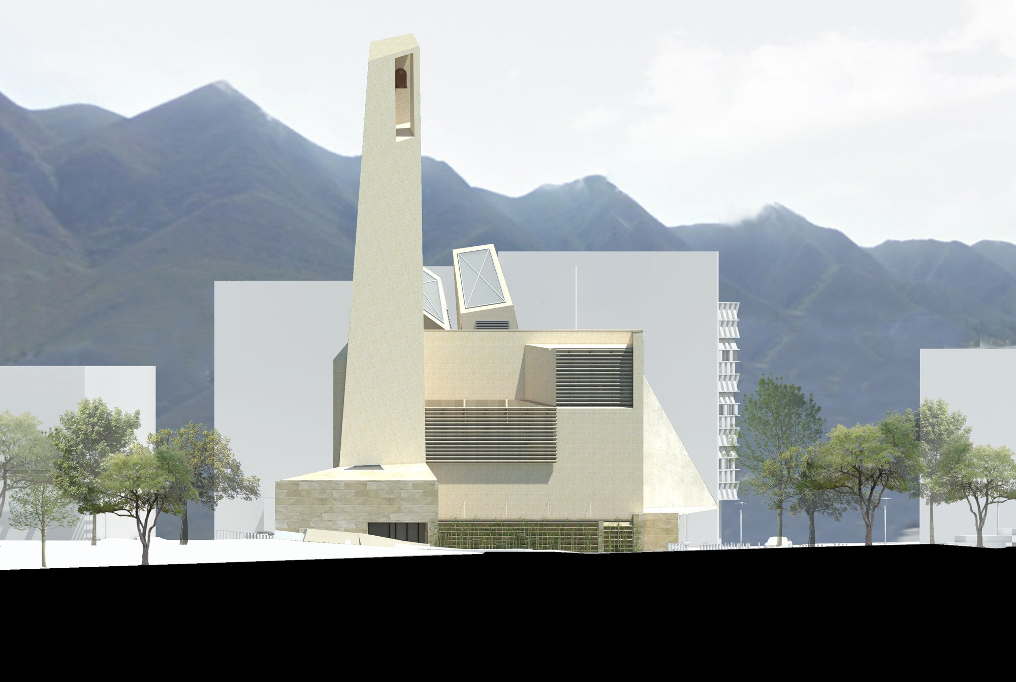 Prospetto Ovest © Moneo Brock, Jeffrey Brock