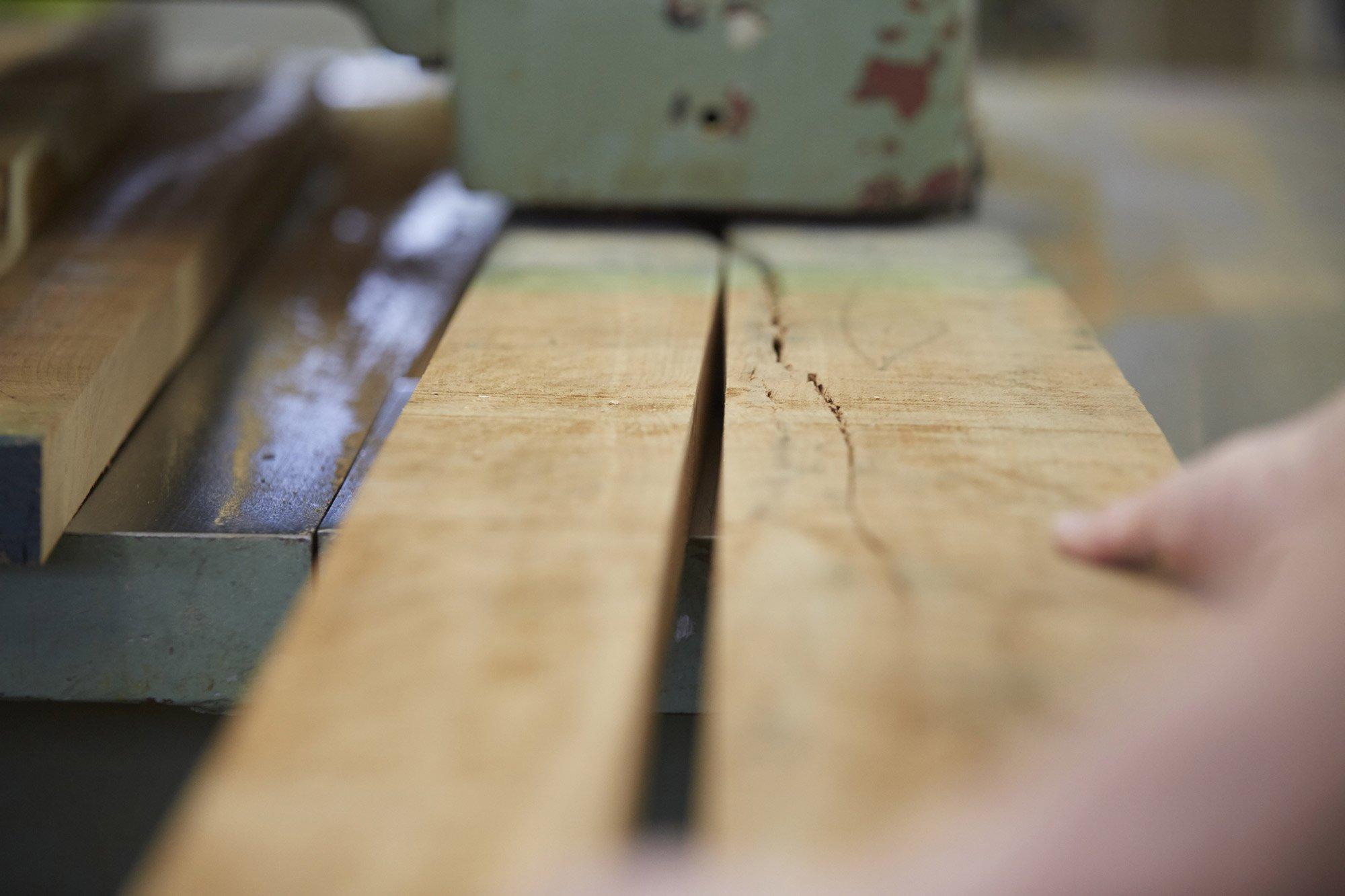 Too Good To Waste: Selecting boards of characterful, low grade, American hardwood © Jon Cardwel