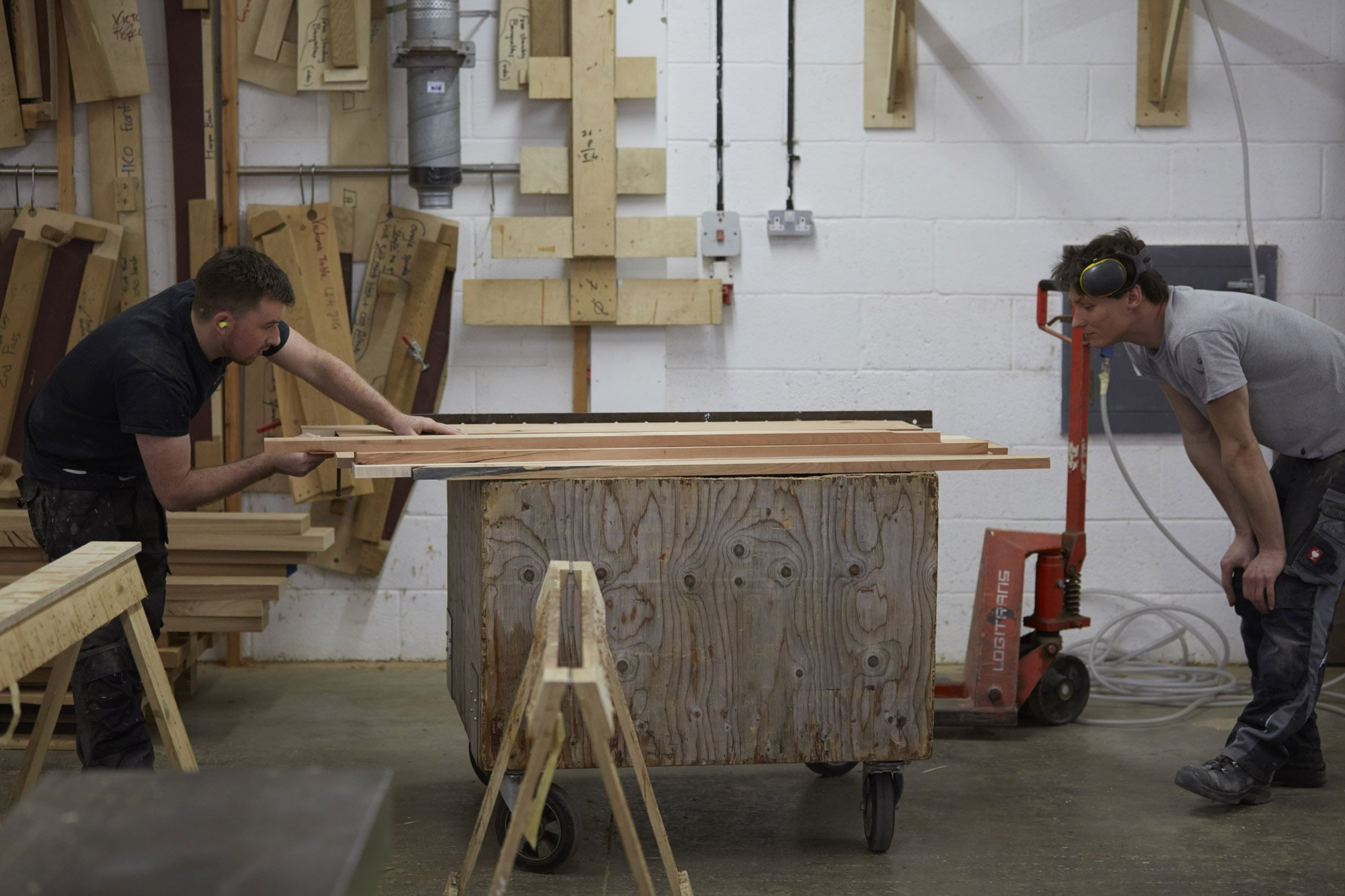 Too Good To Waste: Benchmark craftsmen selecting boards of characterful, low grade, American hardwoo © Jon Cardwel