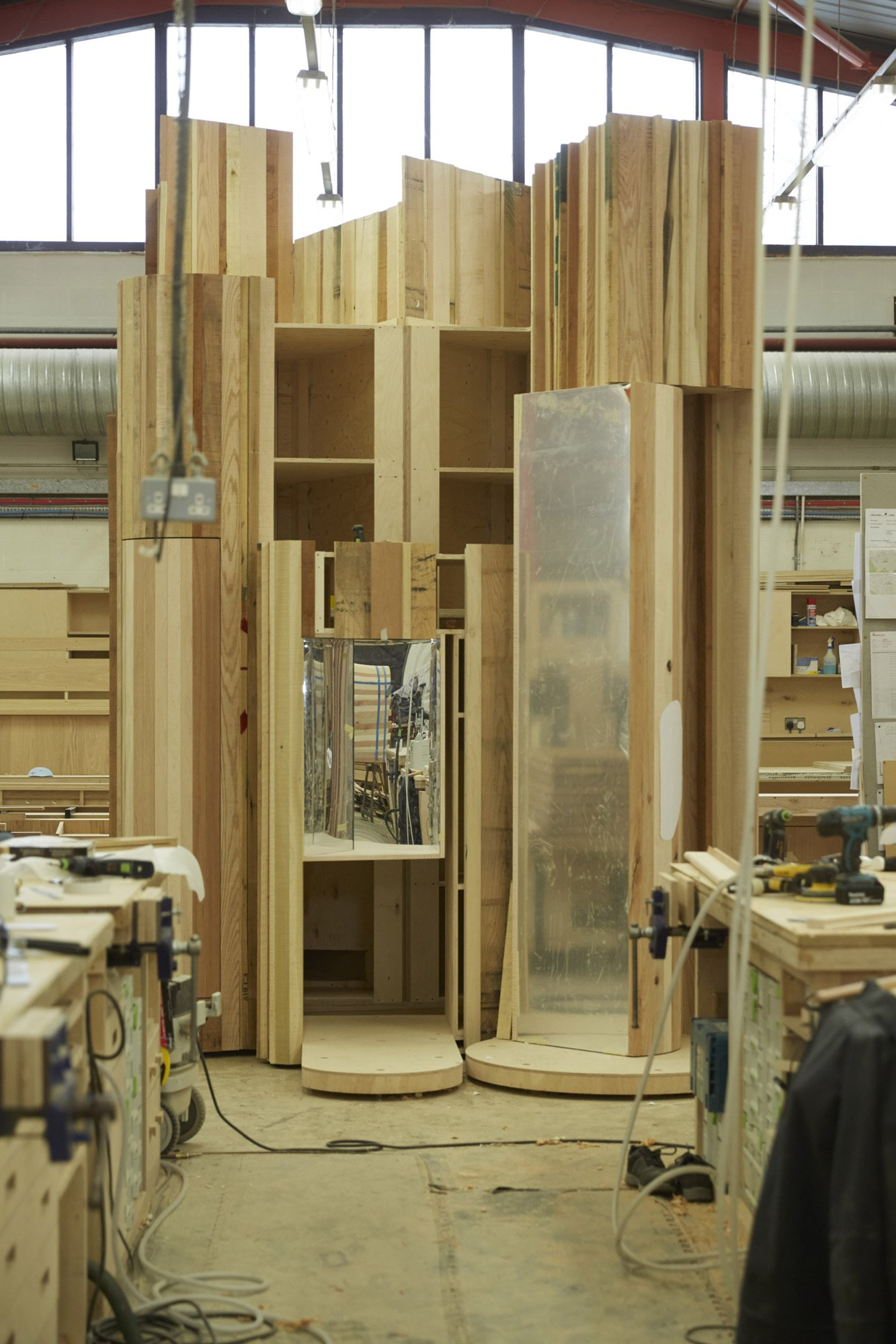 Too Good To Waste: One of the four components, under construction, in the Benchmark workshop © Jon Cardwel