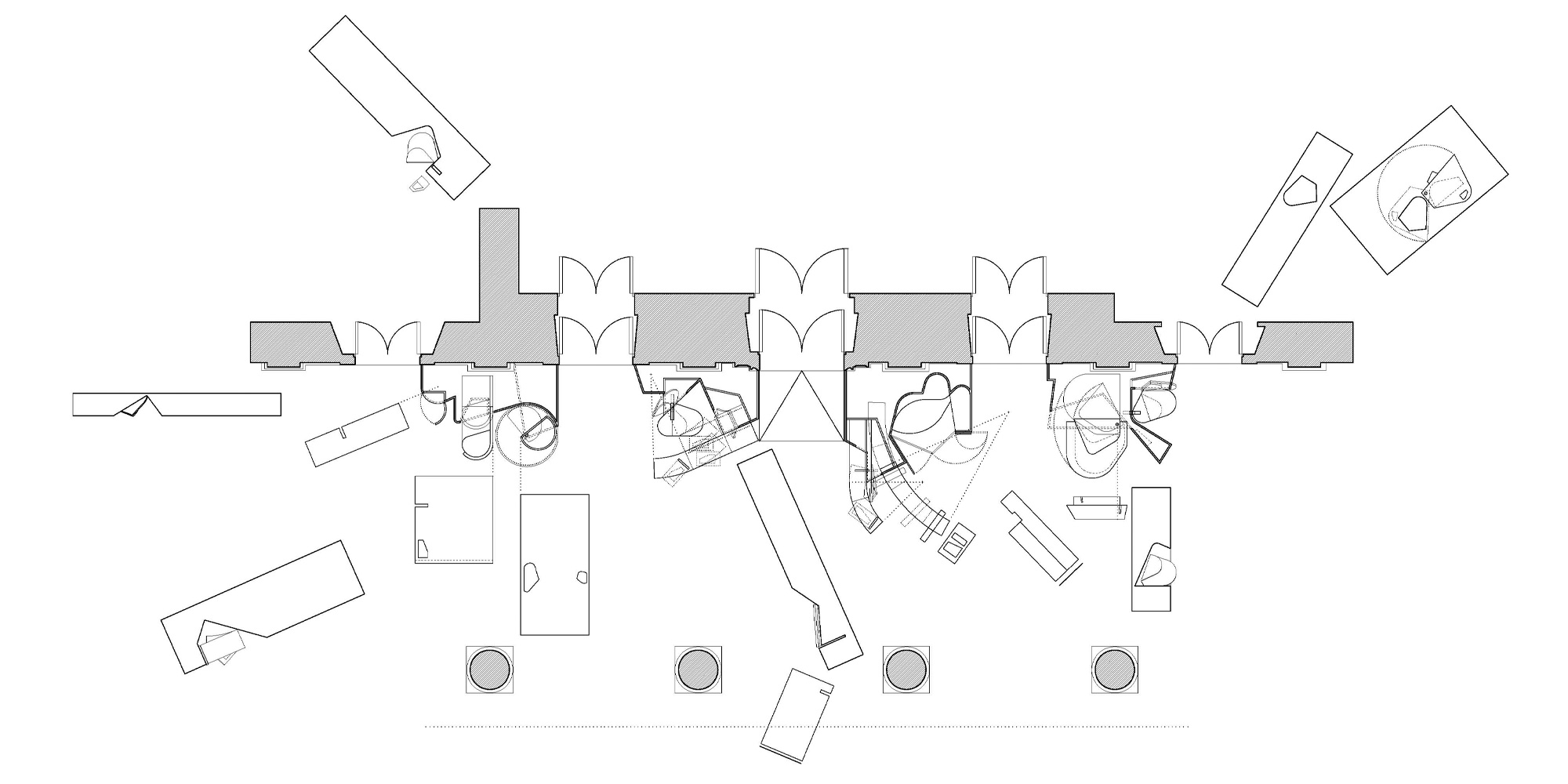 Plan and Elevations © Miralles Tagliabue EMBT