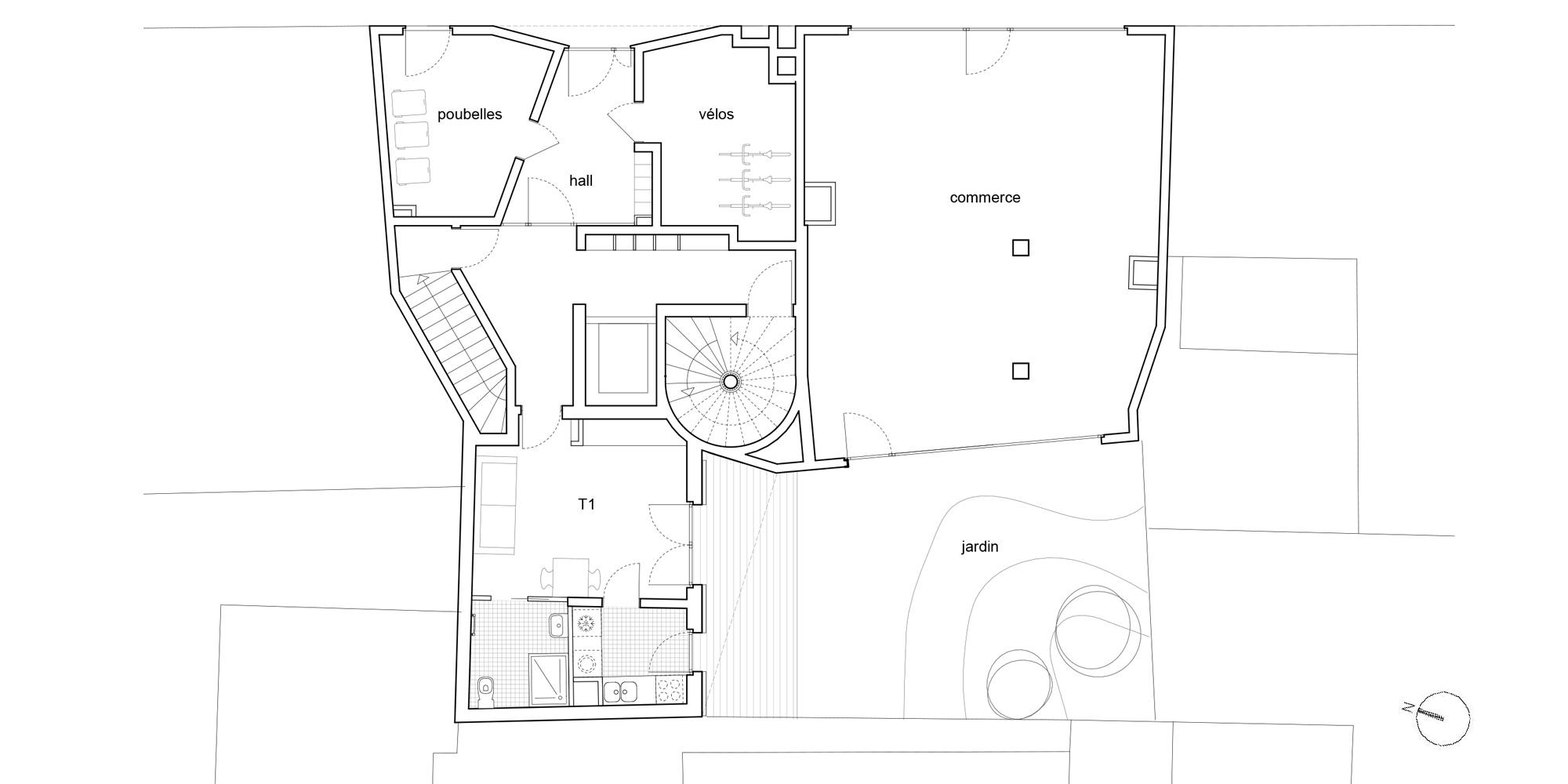 Pianta piano terra © Avenier Cornejo Architectes