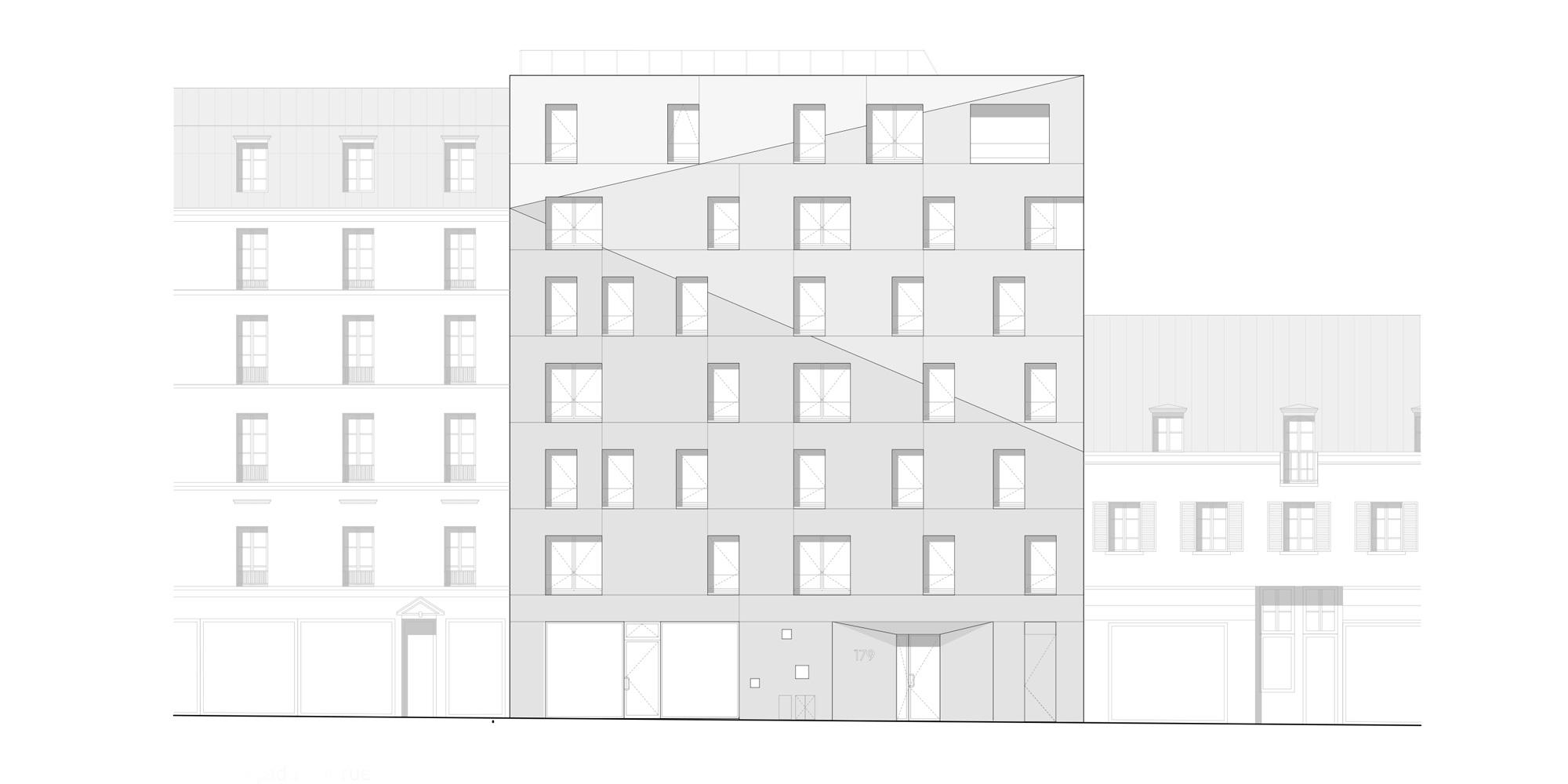 Prospetto Nord © Avenier Cornejo Architectes