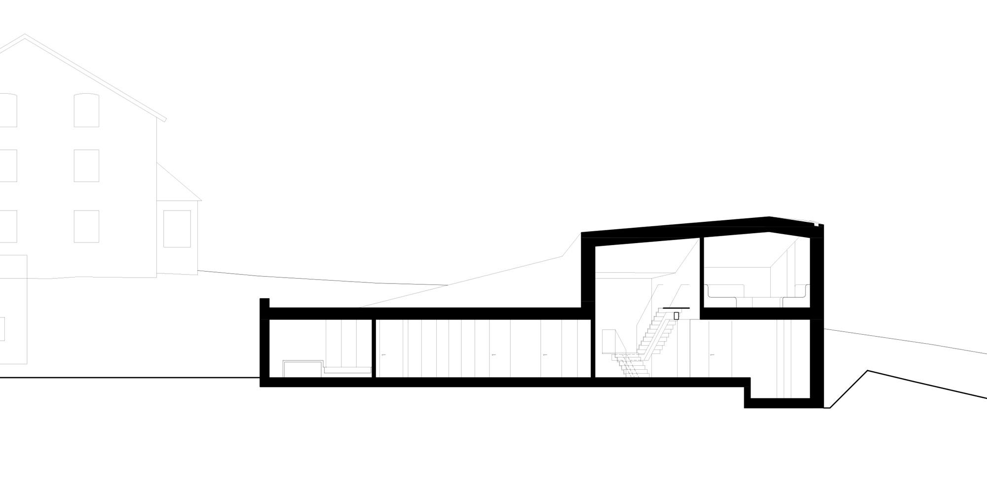 SEZIONE AA © bergmeisterwolf architekten
