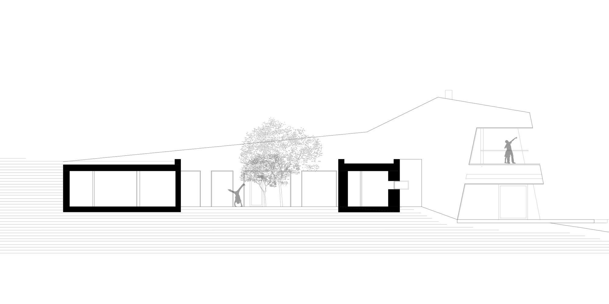 SEZIONE BB © bergmeisterwolf architekten