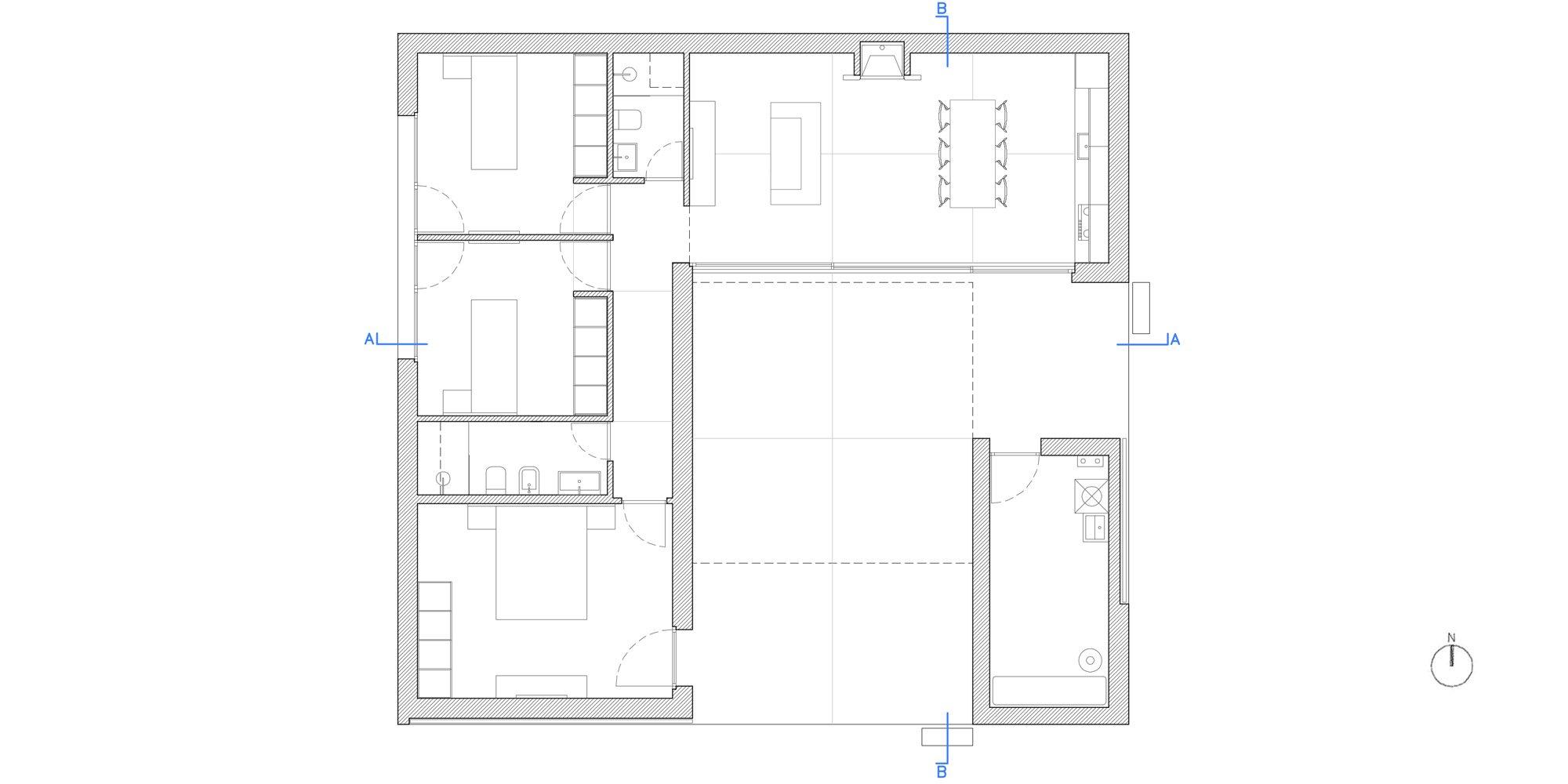 GROUND FLOOR PLAN © morana+rao architetti