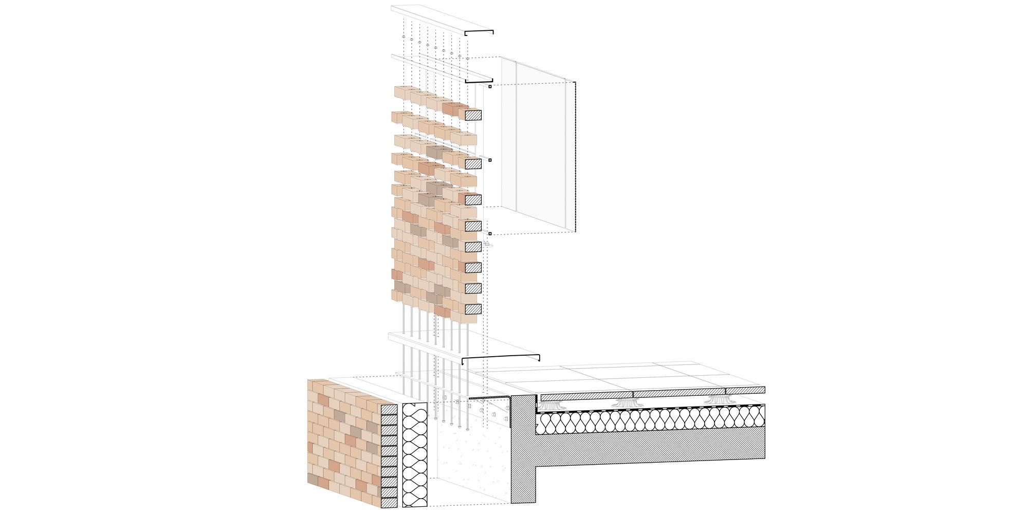Dettaglio facciata © PETITDIDIERPRIOUX Architectes