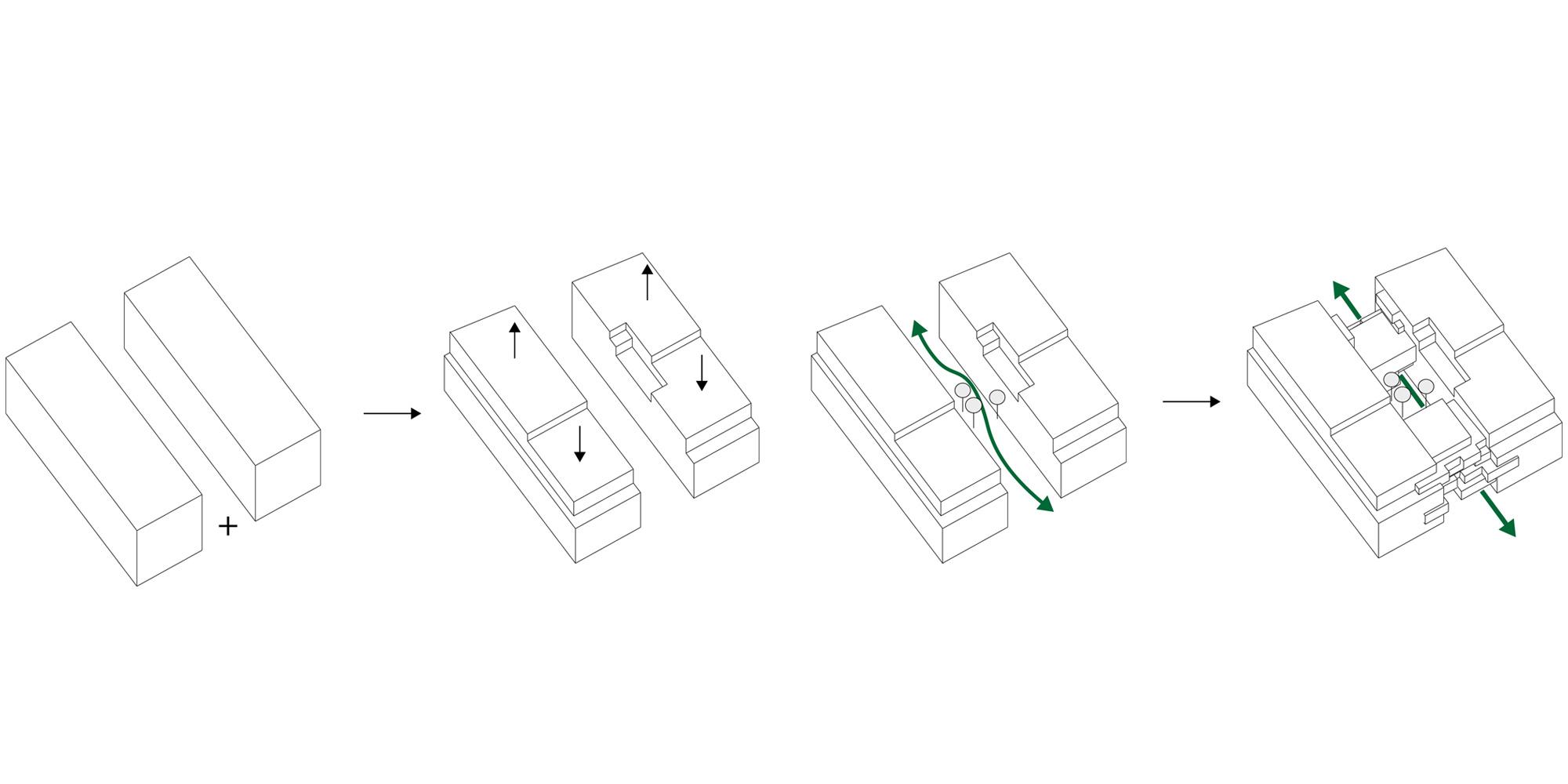 Diagrammi © PETITDIDIERPRIOUX Architectes