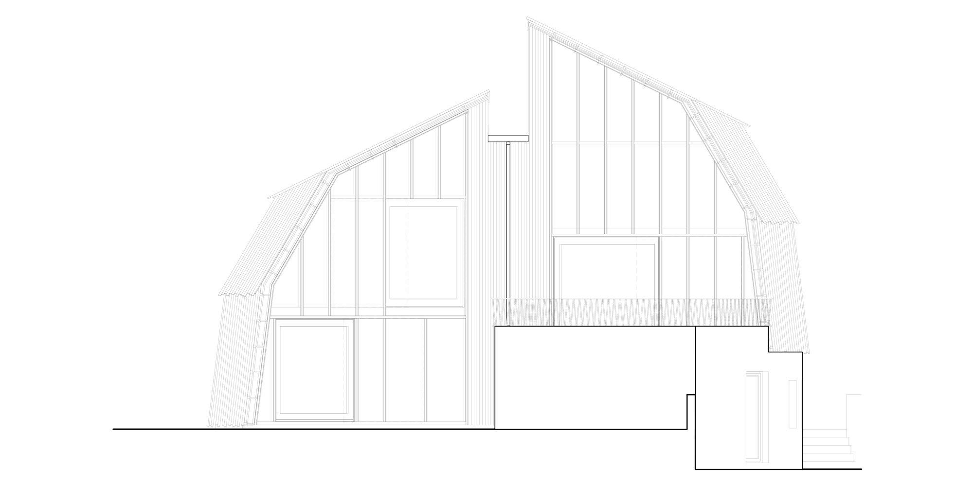 Prospetto Ovest © Mole Architects