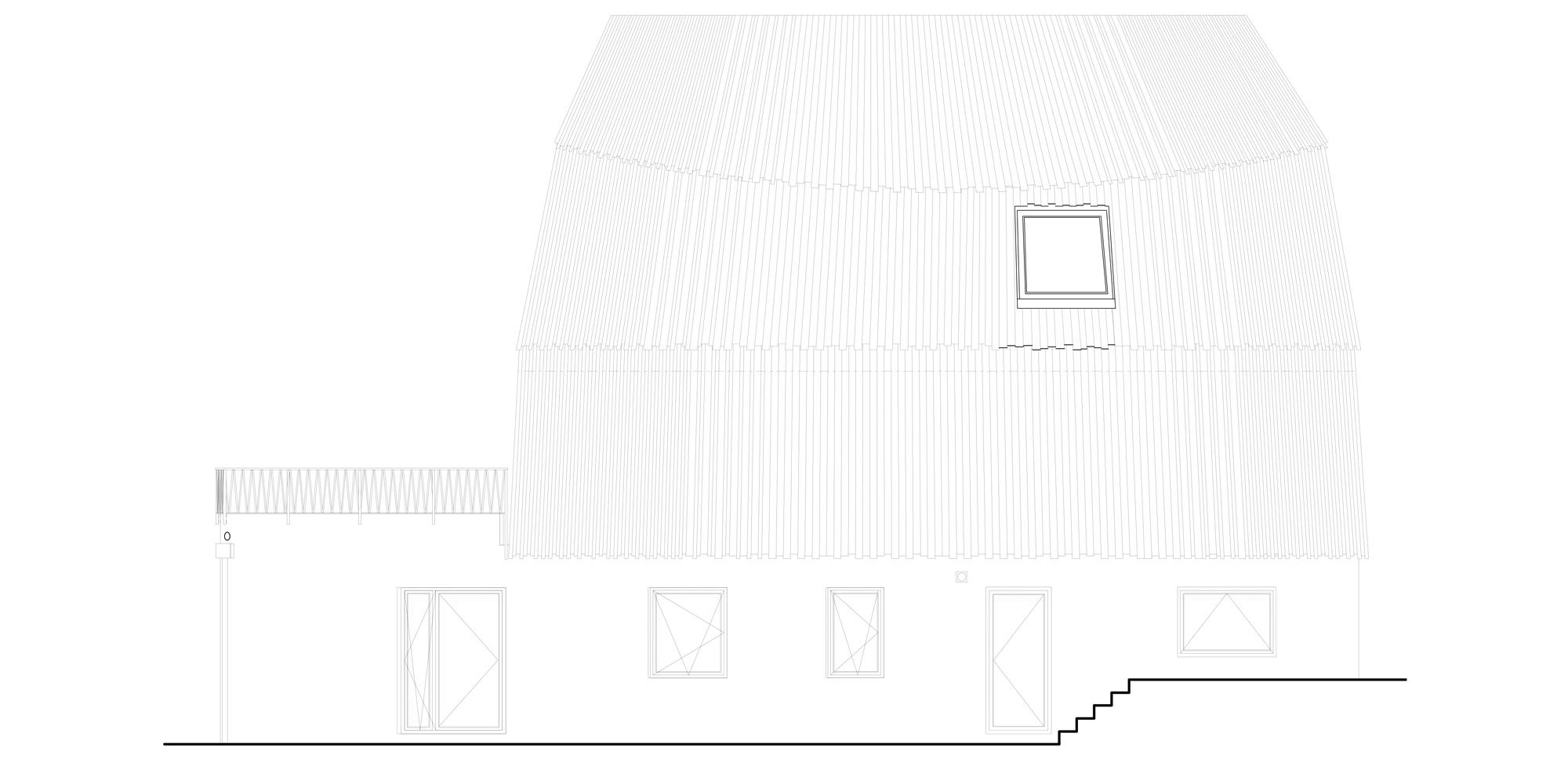Prospetto Sud © Mole Architects