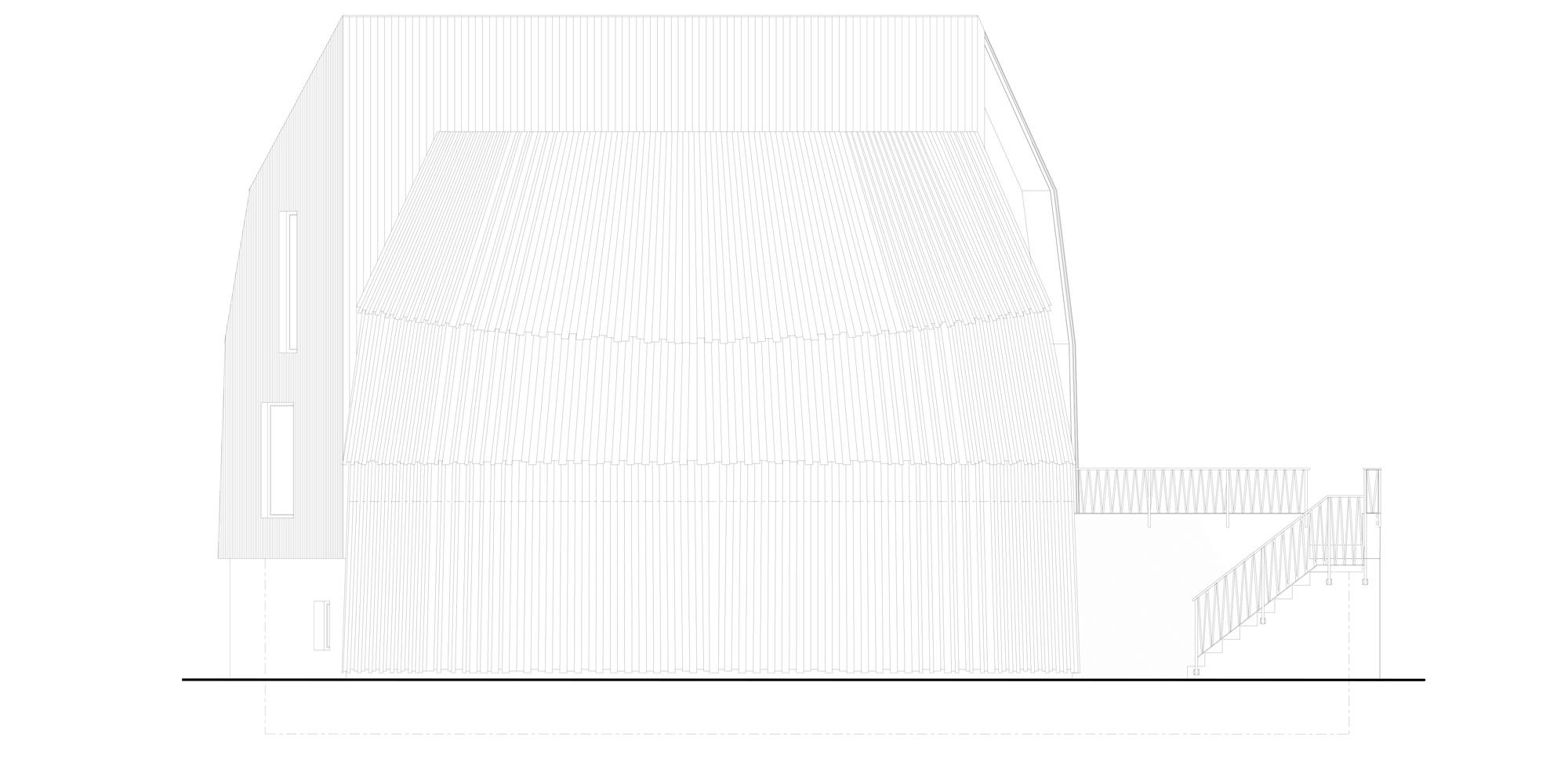 Prospetto Nord © Mole Architects