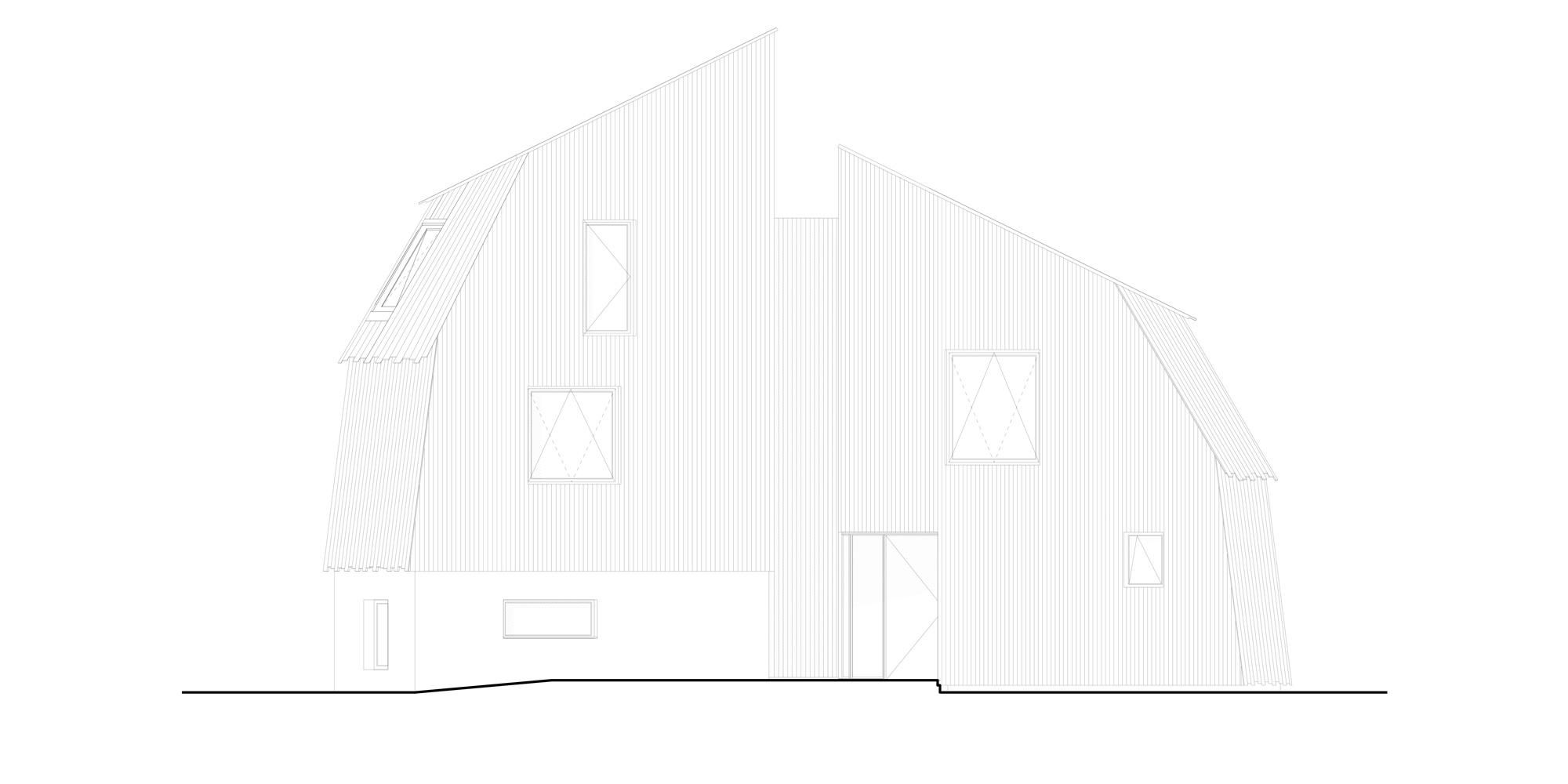 Prospetto Est © Mole Architects