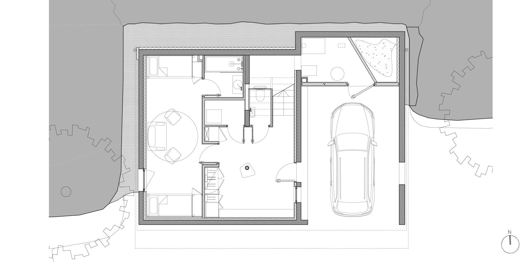 Pianta piano terra © Studio Razavi Architecture