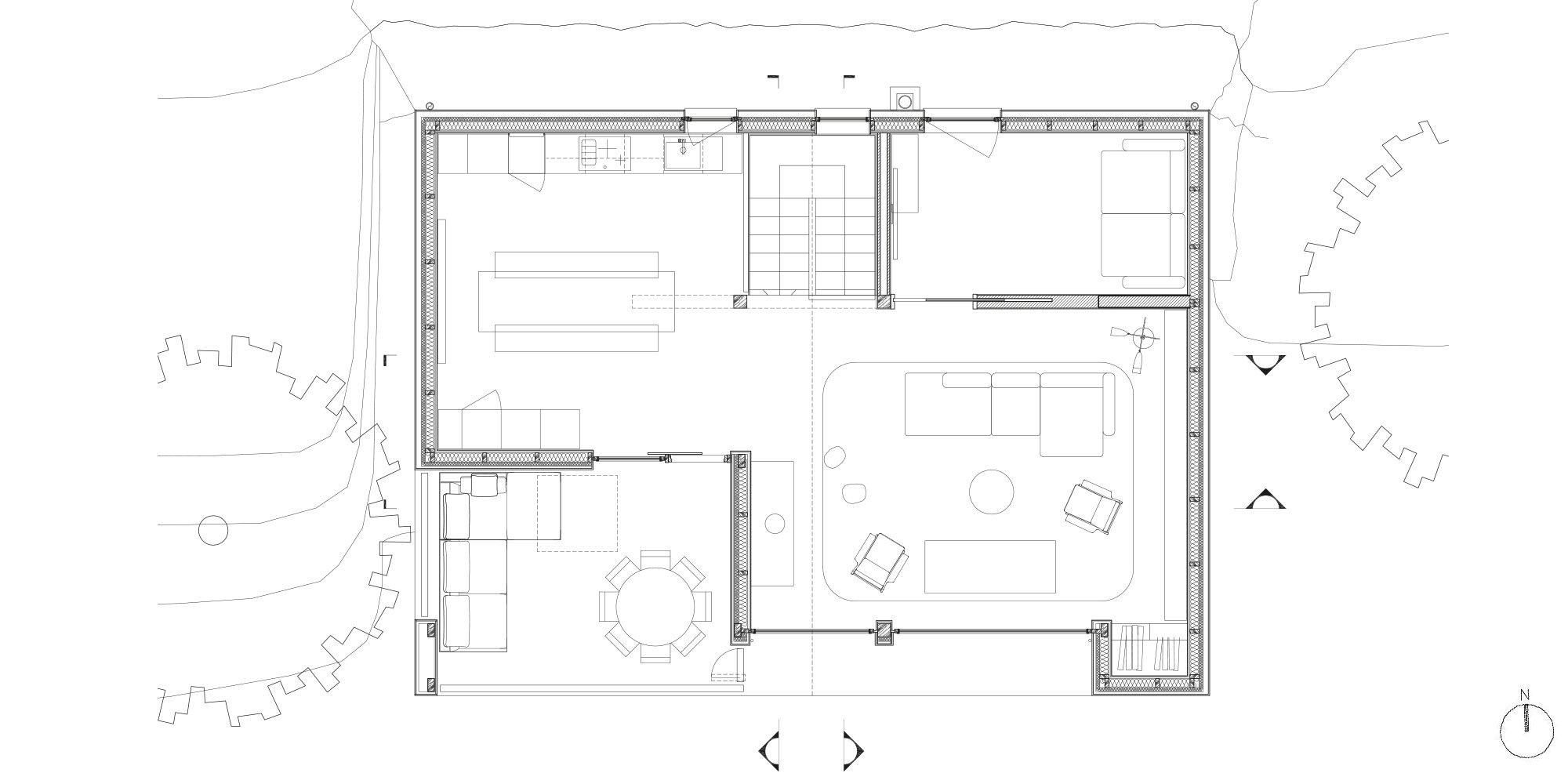 Pianta piano secondo © Studio Razavi Architecture