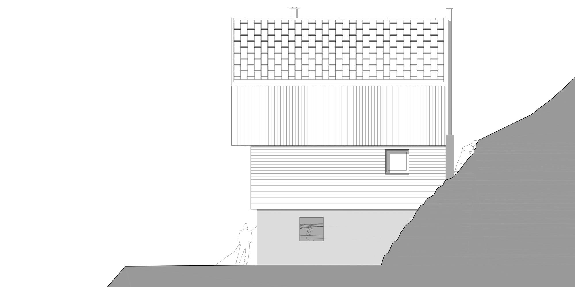 Prospetto Est © Studio Razavi Architecture